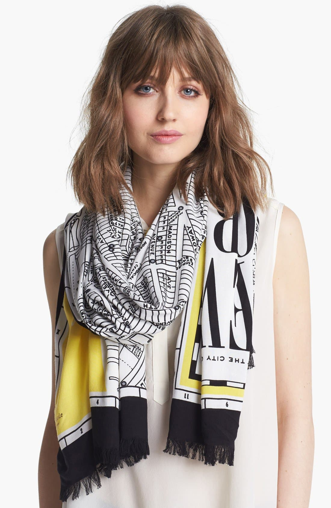 Alternate Image 1 Selected - kate spade new york 'new york map' scarf