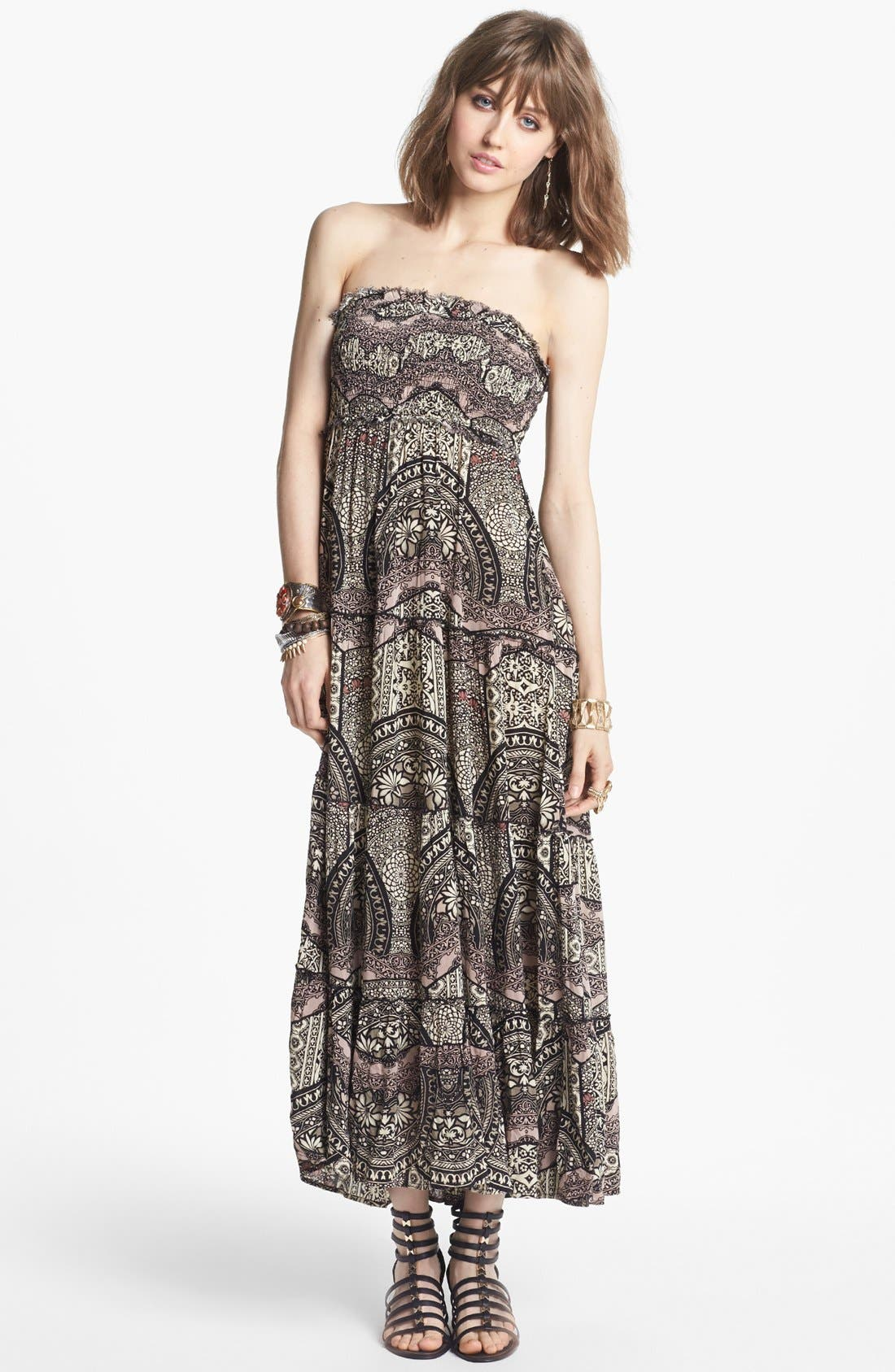 Alternate Image 1 Selected - Free People 'Easy Come' Print Maxi Dress