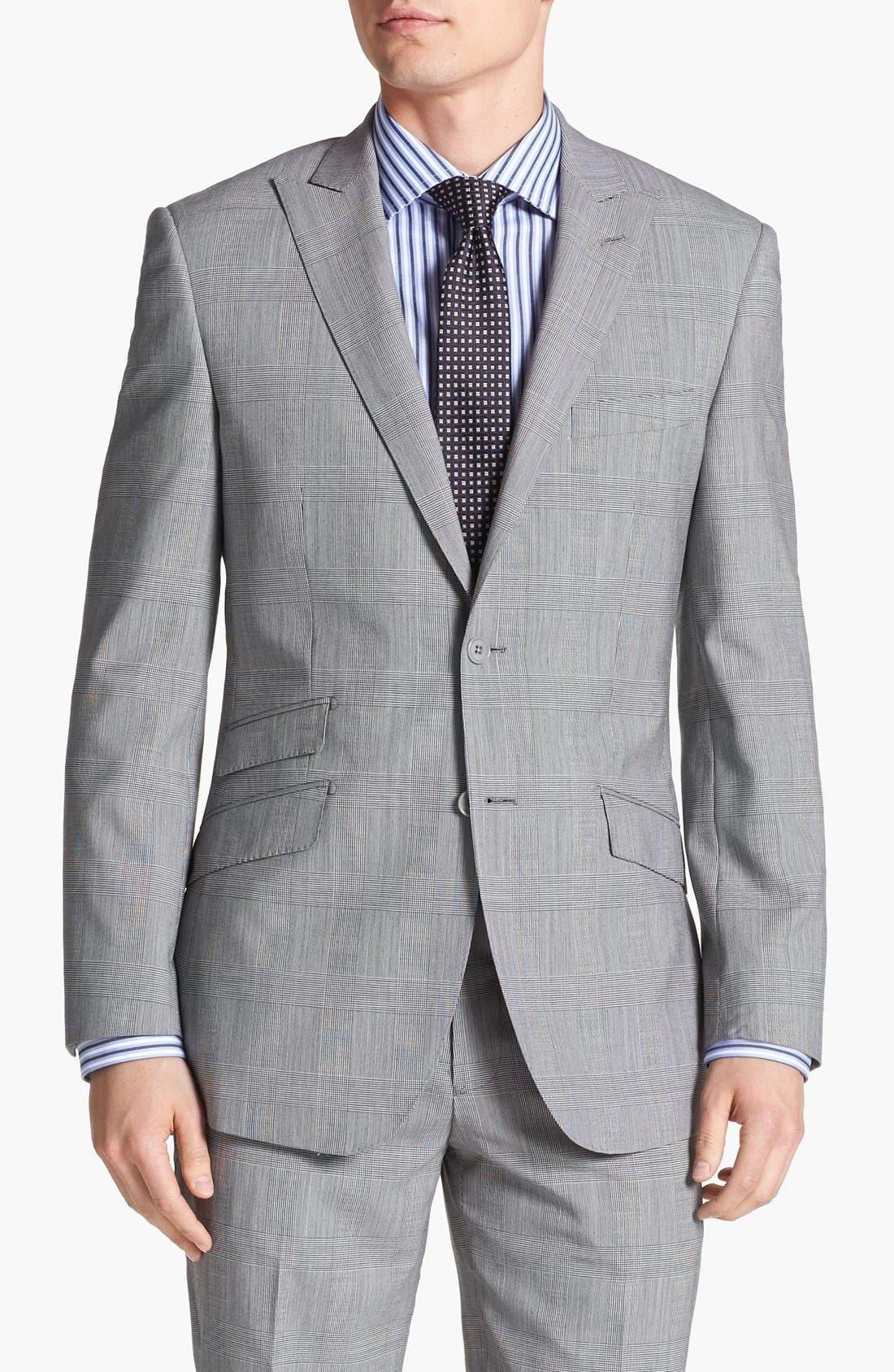 Alternate Image 5  - English Laundry Trim Fit Plaid Suit