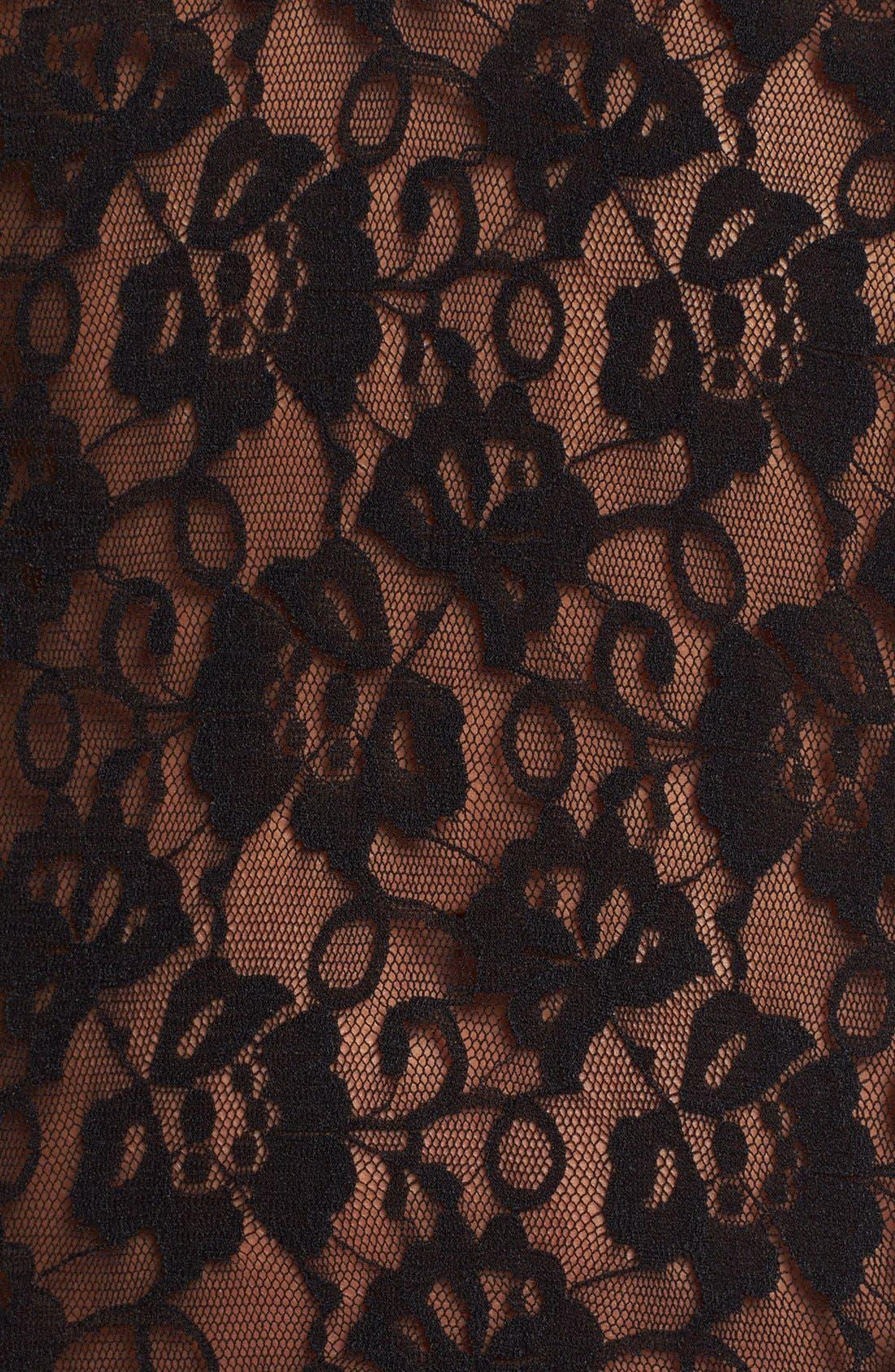 Alternate Image 3  - Betsey Johnson Lace & Chiffon Slip