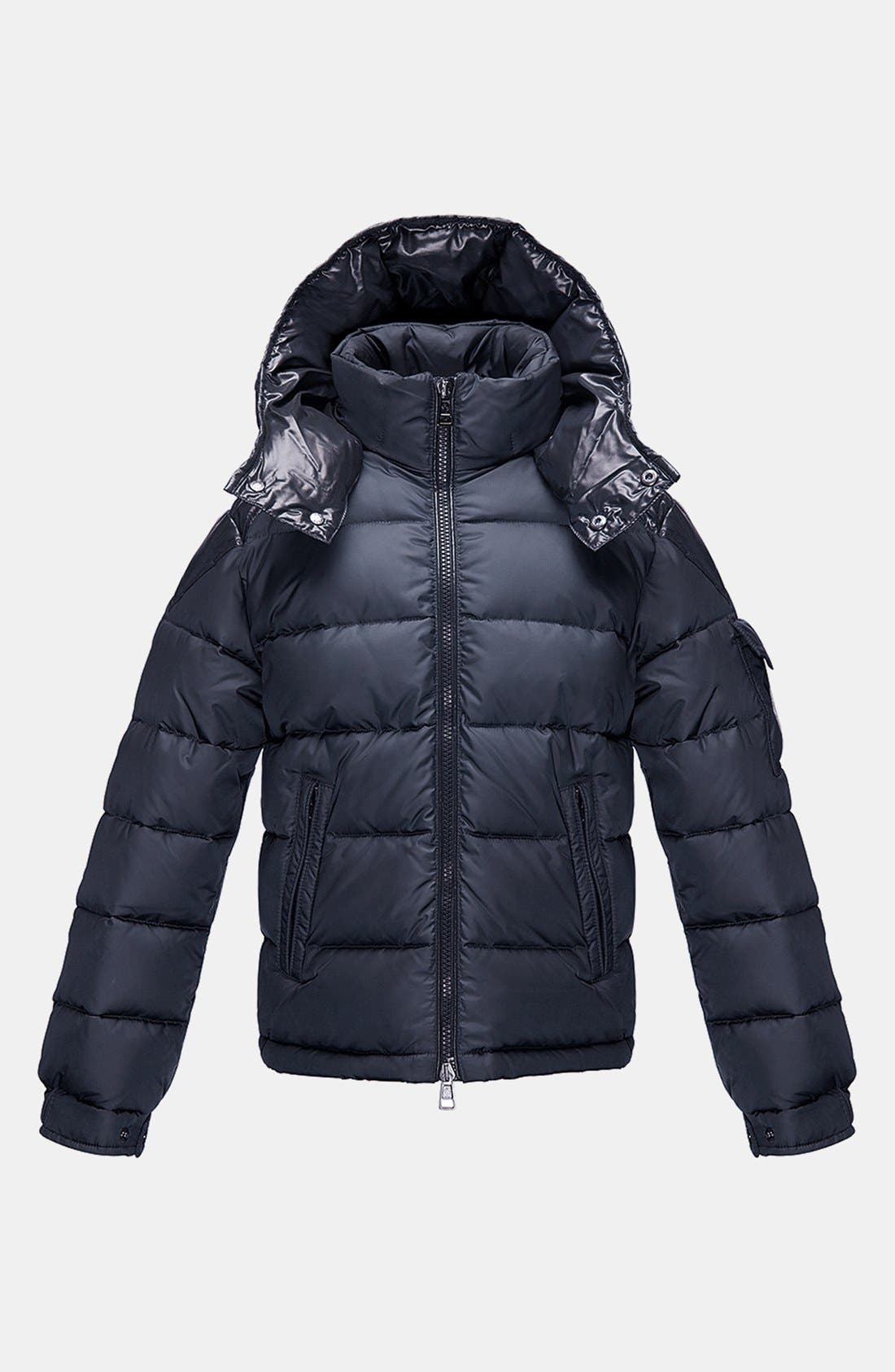 Main Image - Moncler 'Chevalier' Hooded Down Jacket (Toddler Boys, Little Boys & Big Boys)