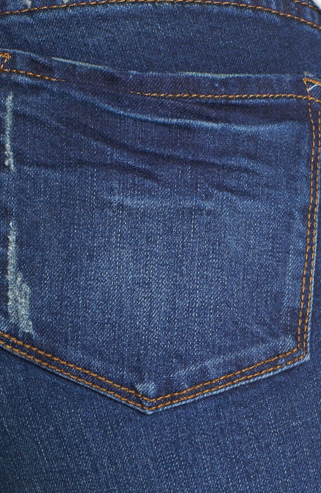 Alternate Image 5  - KUT from the Kloth 'Catherine' Destroyed Slim Boyfriend Crop Jeans (Artist)