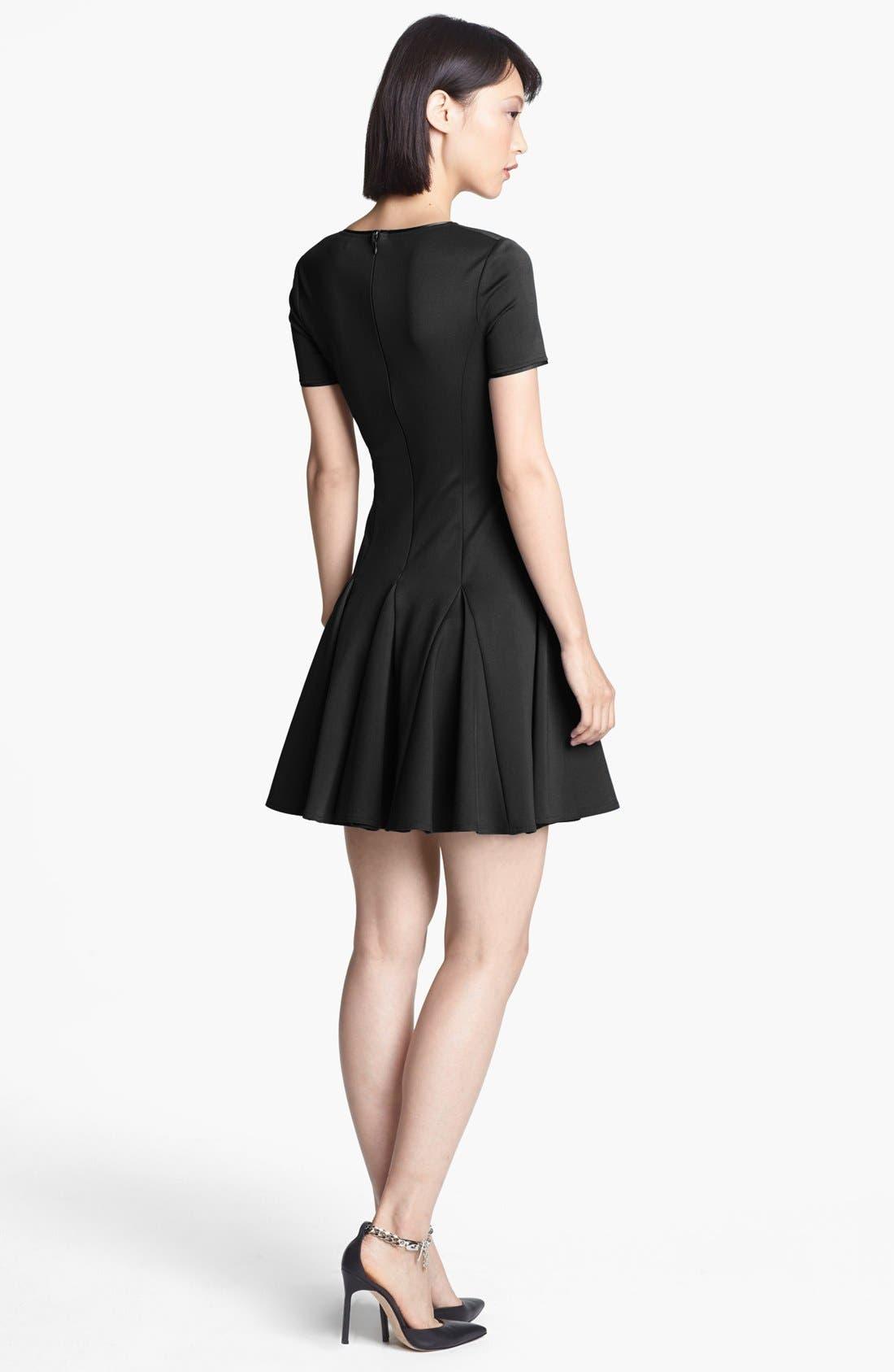 Alternate Image 2  - Halston Heritage Fit & Flare Ponte Dress