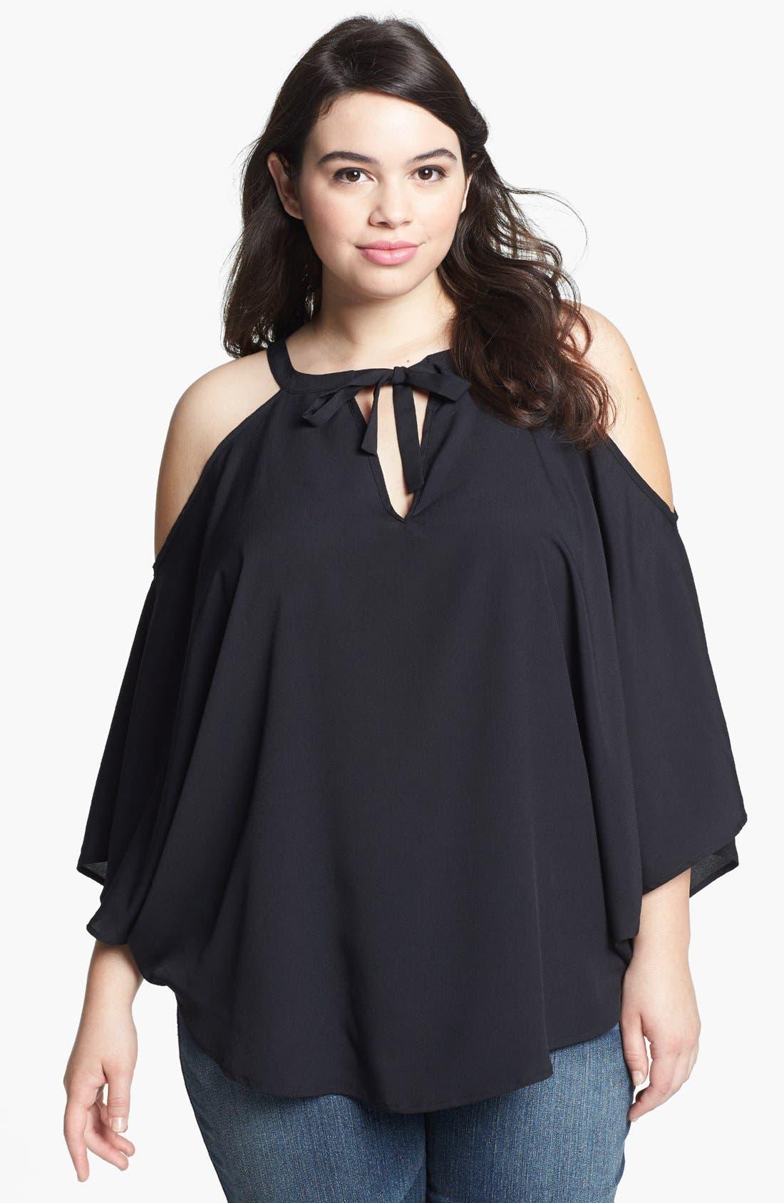 Main Image - BB Dakota Cold Shoulder Top (Plus Size)