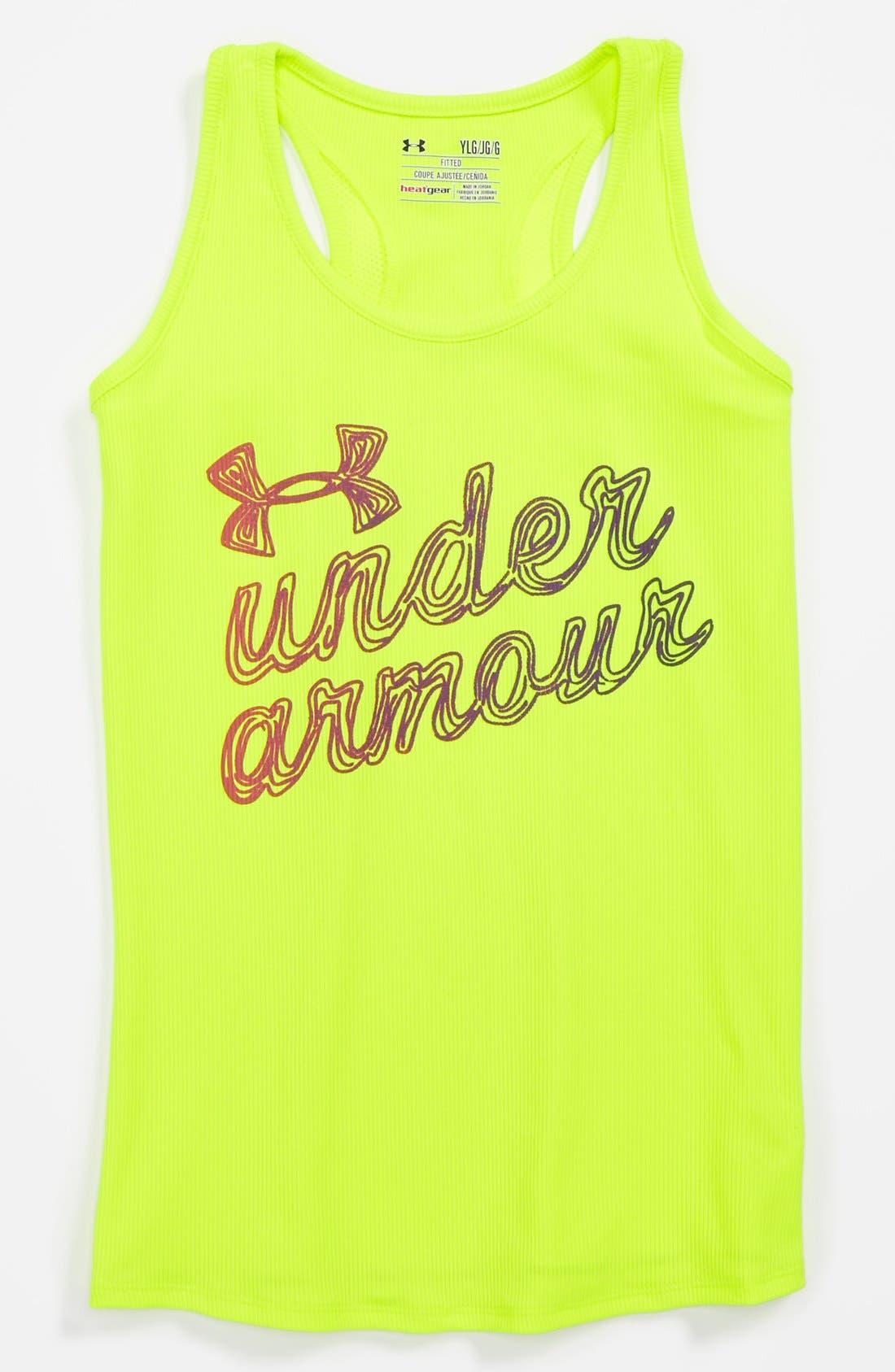 Main Image - Under Armour HeatGear® Tank Top (Big Girls)