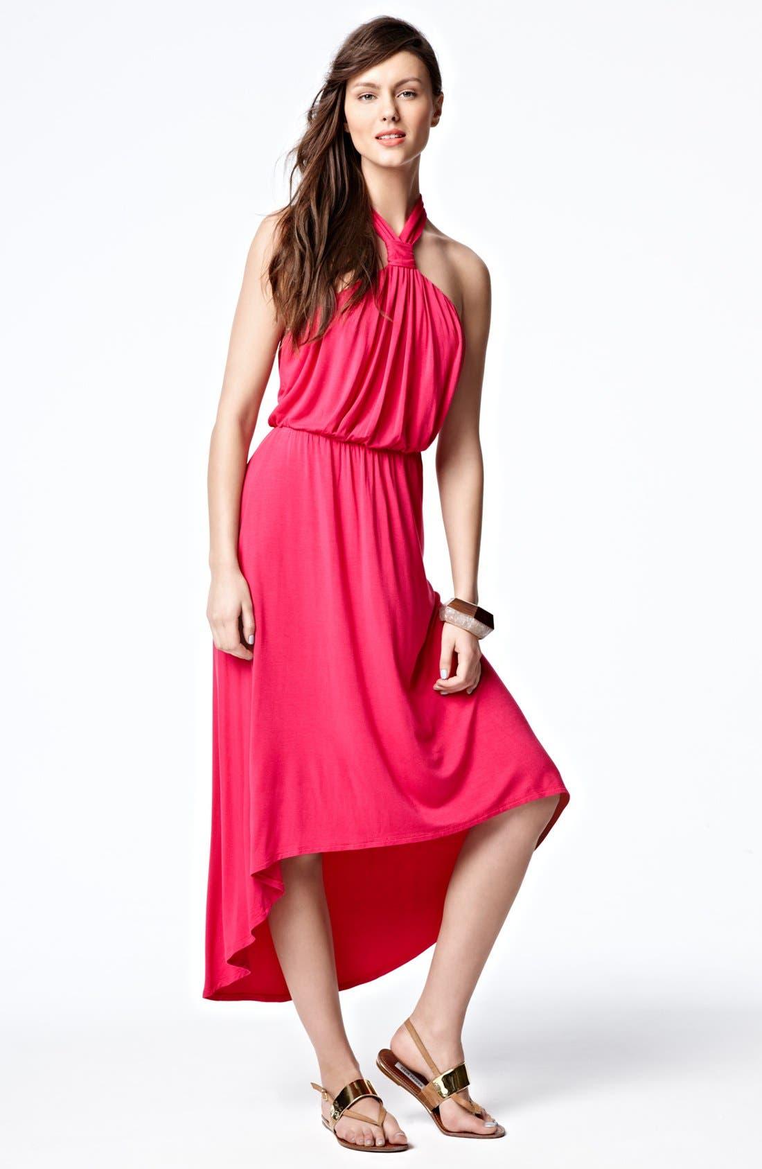 Alternate Image 4  - Felicity & Coco Halter High/Low Maxi Dress (Regular & Petite) (Nordstrom Exclusive)