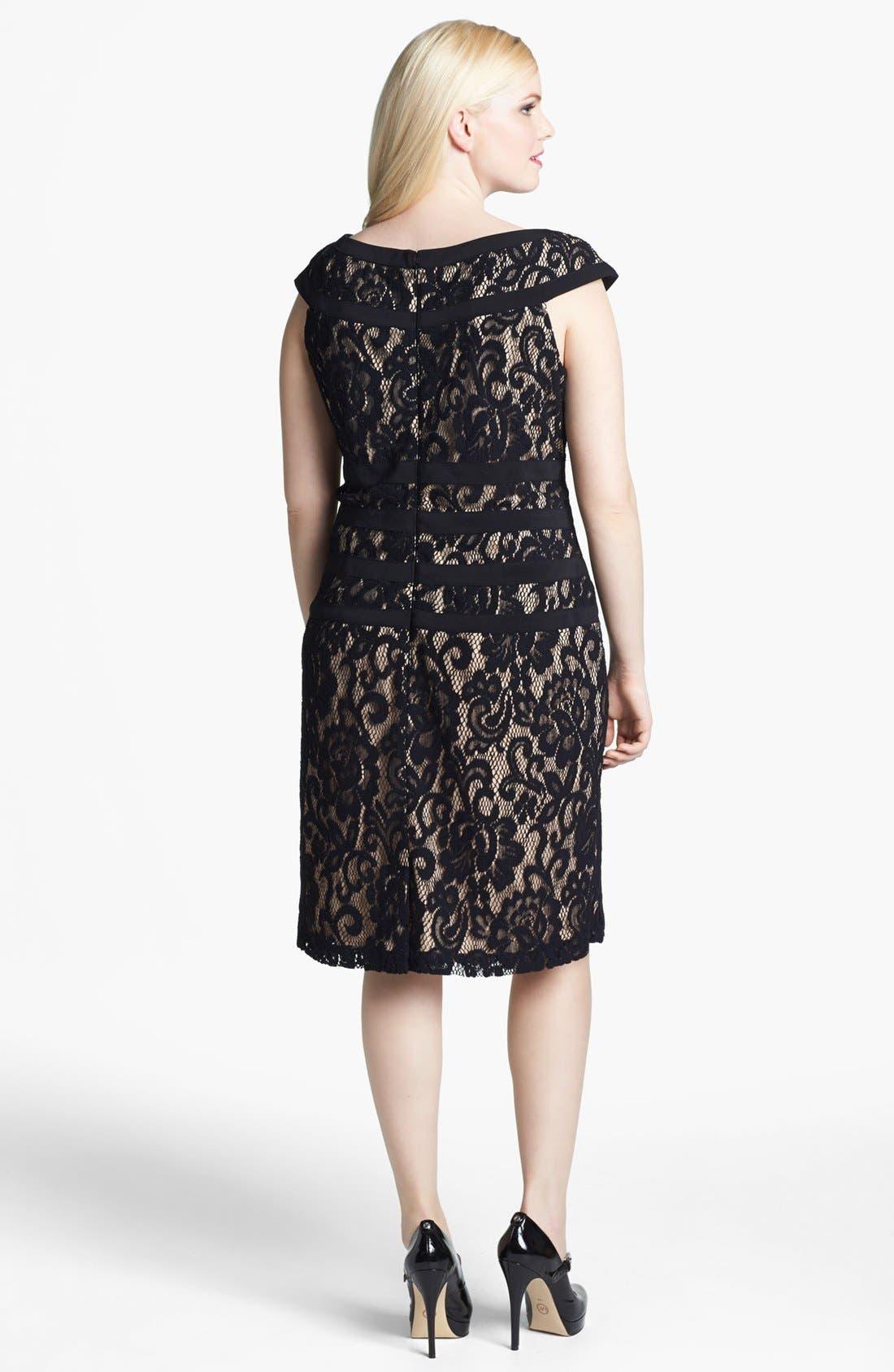 Alternate Image 2  - Xscape Lace Sheath Dress (Plus Size)