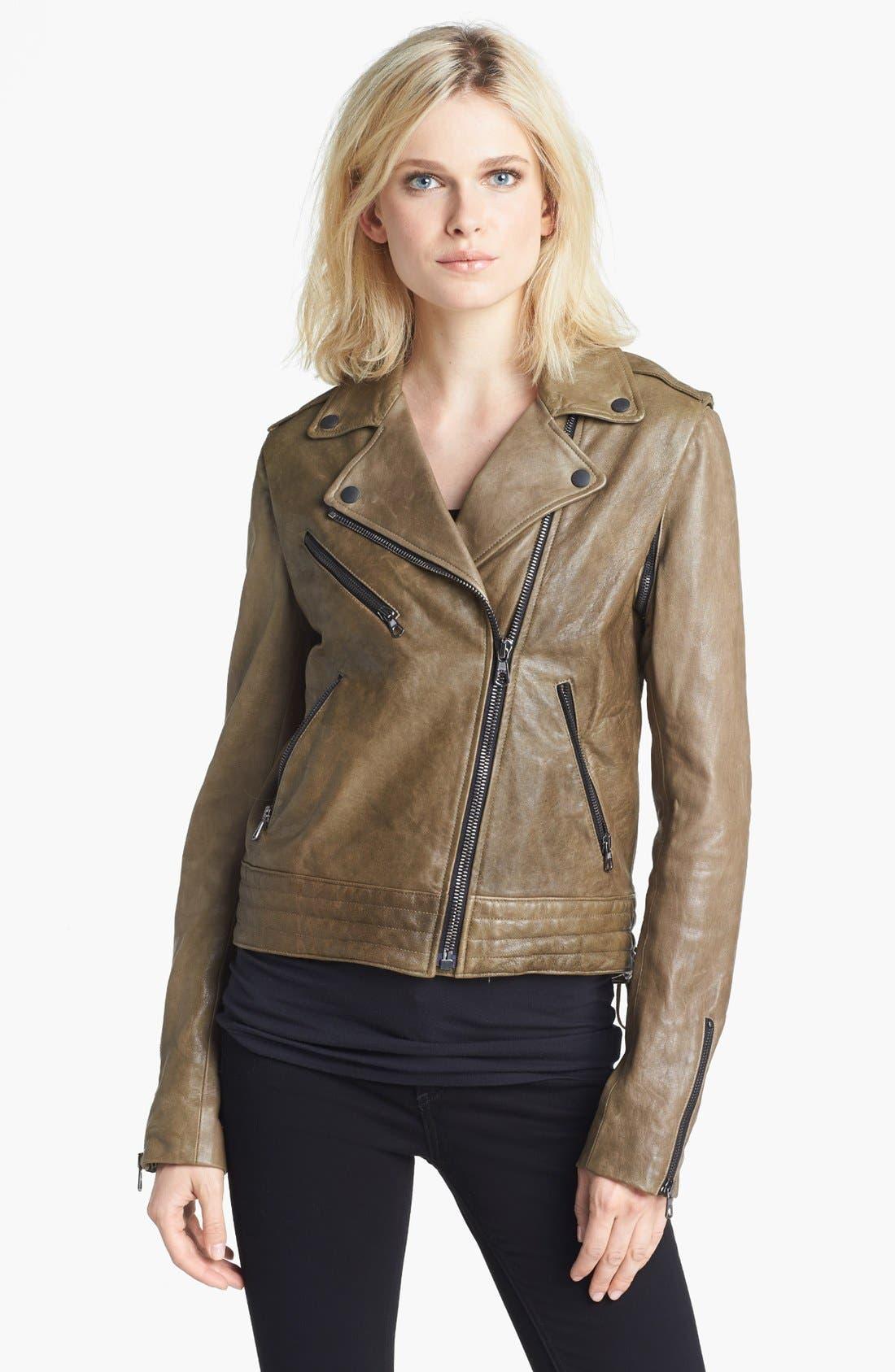 Alternate Image 3  - rag & bone 'Bowery' Leather Moto Jacket