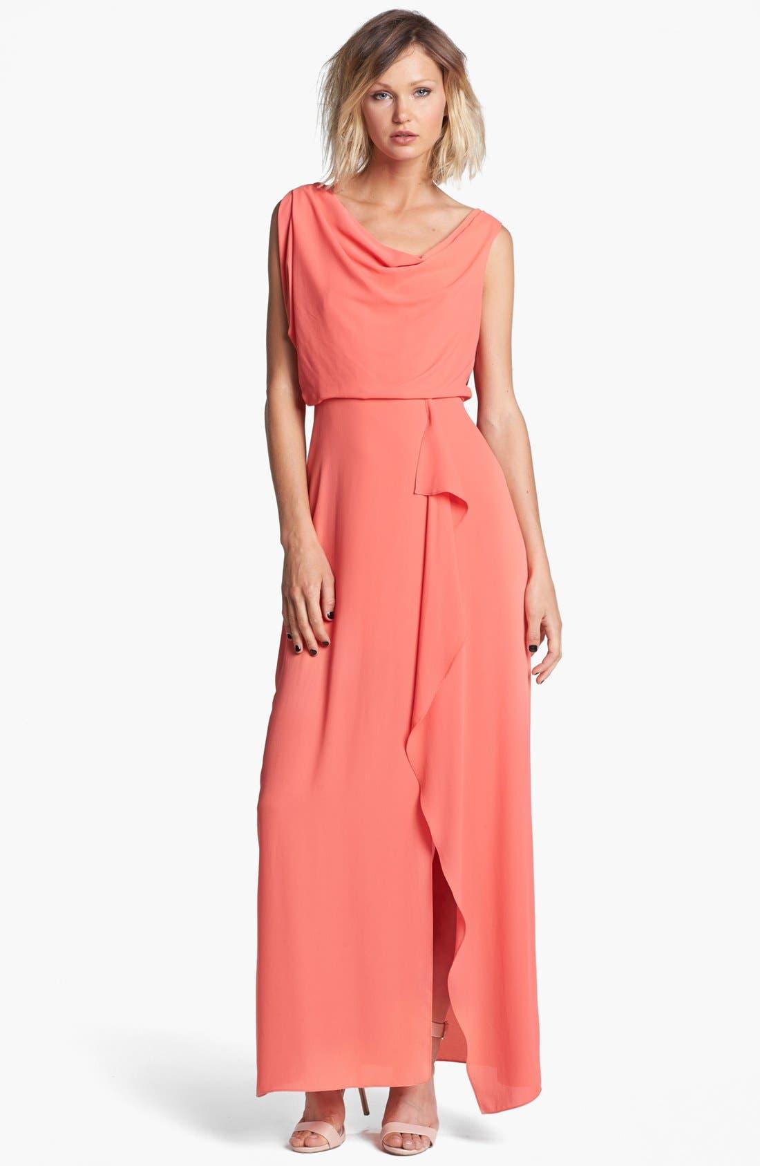 Alternate Image 1 Selected - BCBGMAXAZRIA Draped Blouson Gown