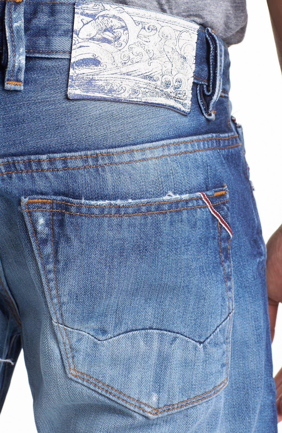 Alternate Image 4  - Cult of Individuality 'Rebel' Straight Leg Selvedge Jeans (Riverside)
