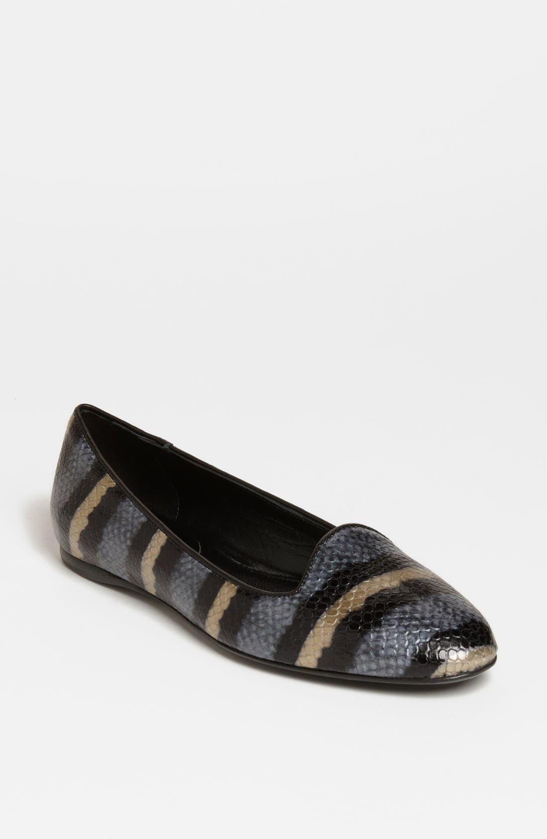 'Sirri' Flat,                         Main,                         color, Slate Blue Pearlized Python