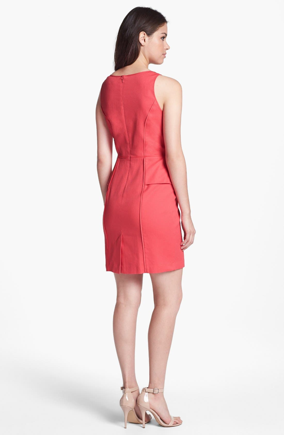 Alternate Image 2  - Jessica Simpson Lace Yoke Sleeveless Peplum Sheath Dress