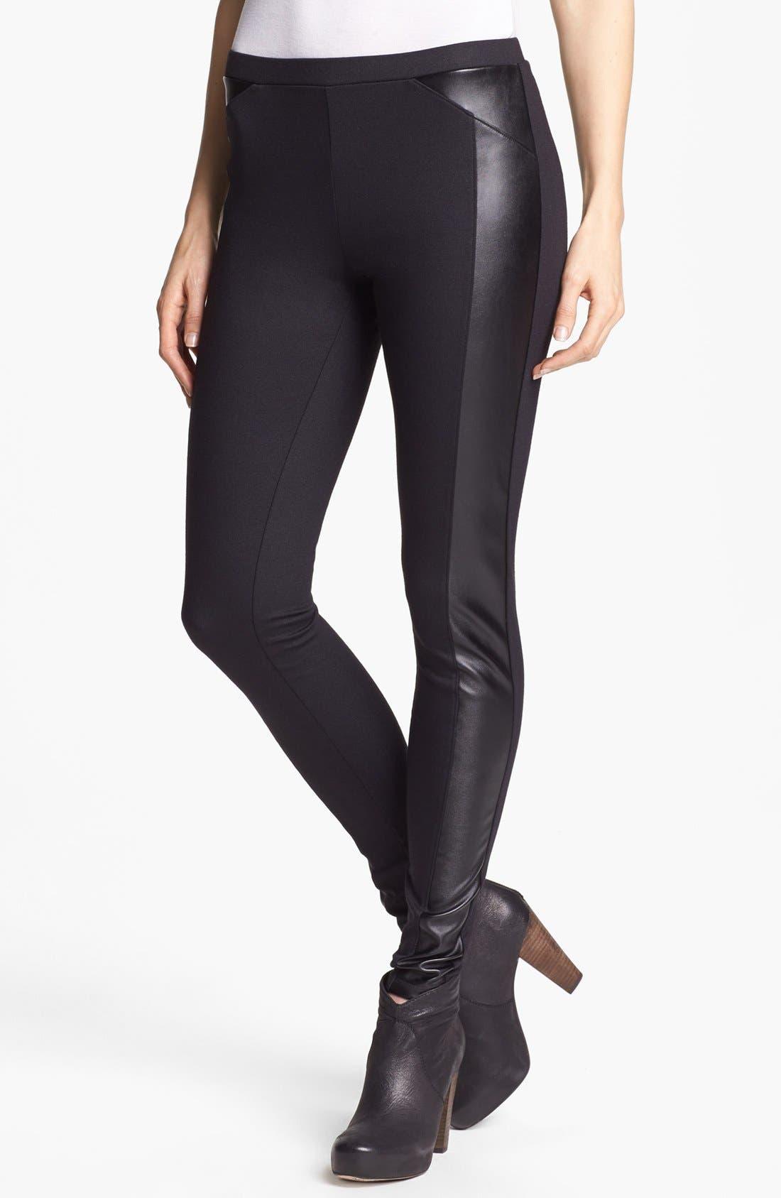 'Powerplay' Leggings,                         Main,                         color, Black
