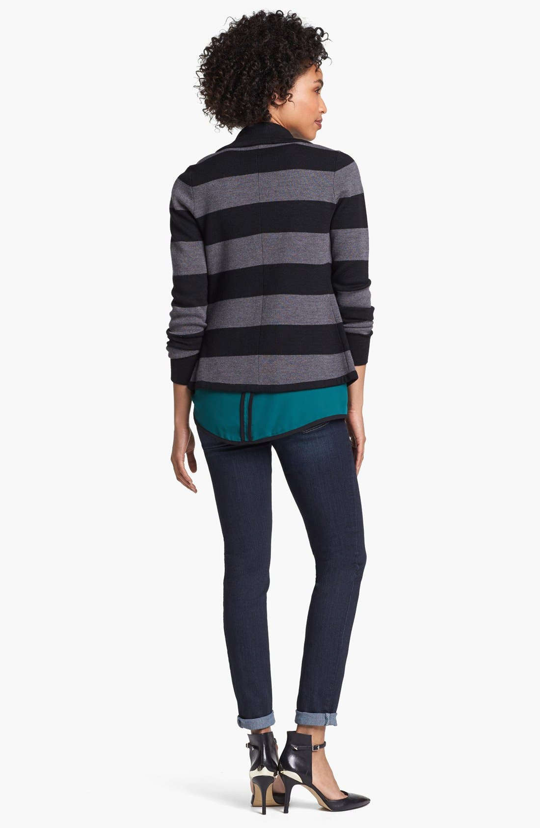 Alternate Image 4  - Halogen® Ribbon Trim Sweater Jacket