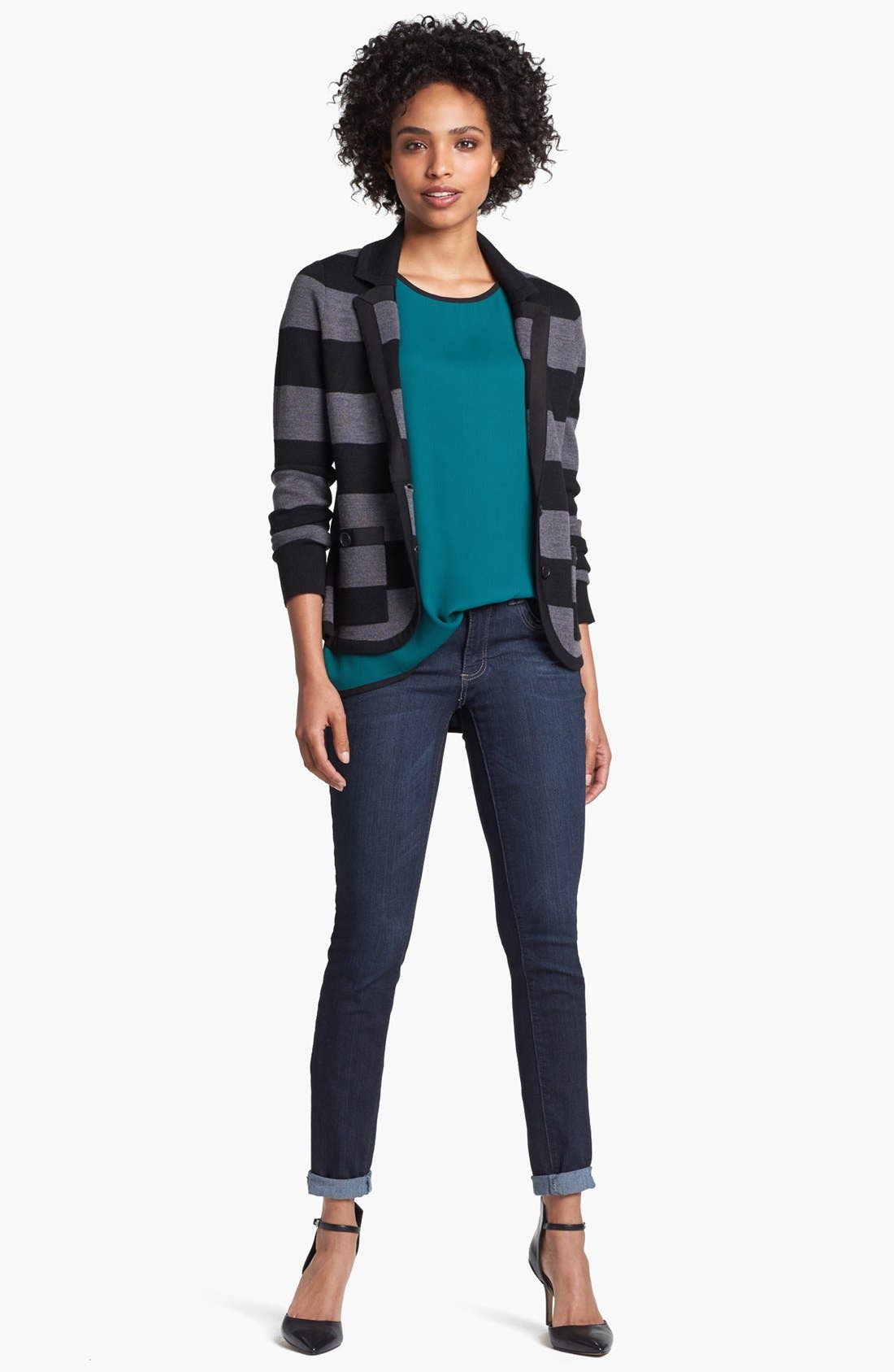 Alternate Image 1 Selected - Halogen® Ribbon Trim Sweater Jacket