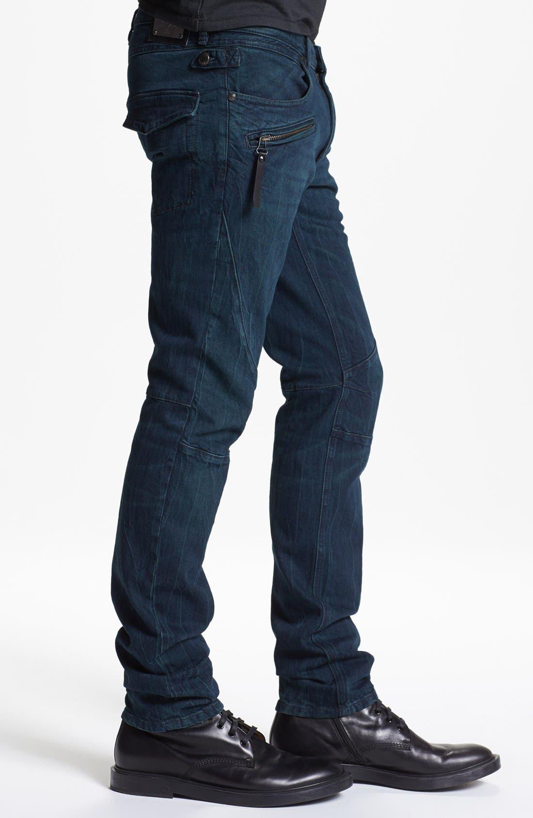 Alternate Image 3  - Just Cavalli Slim Fit Moto Jeans