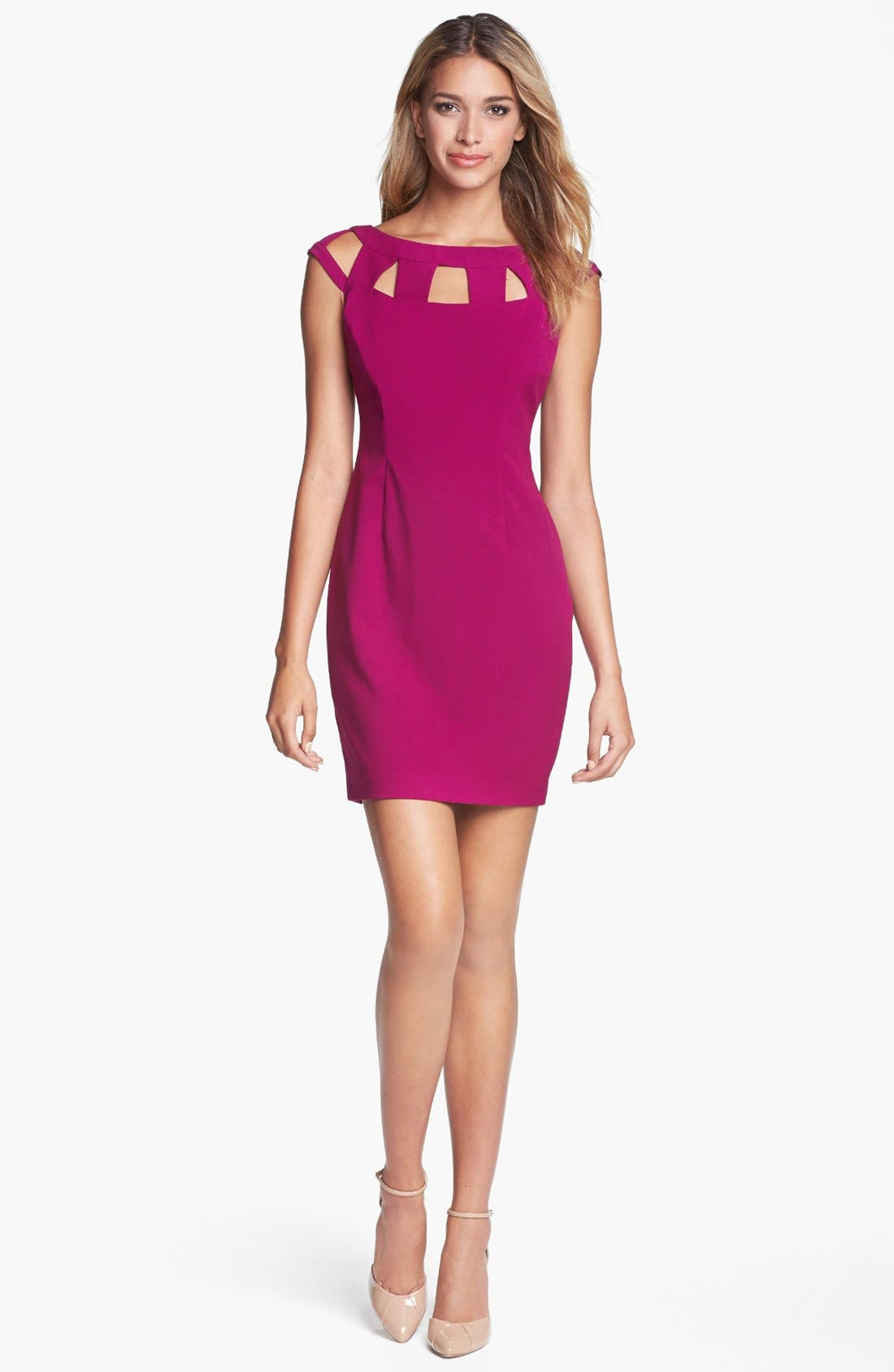 Alternate Image 1 Selected - Marc New York by Andrew Marc Cutout Cap Sleeve Sheath Dress