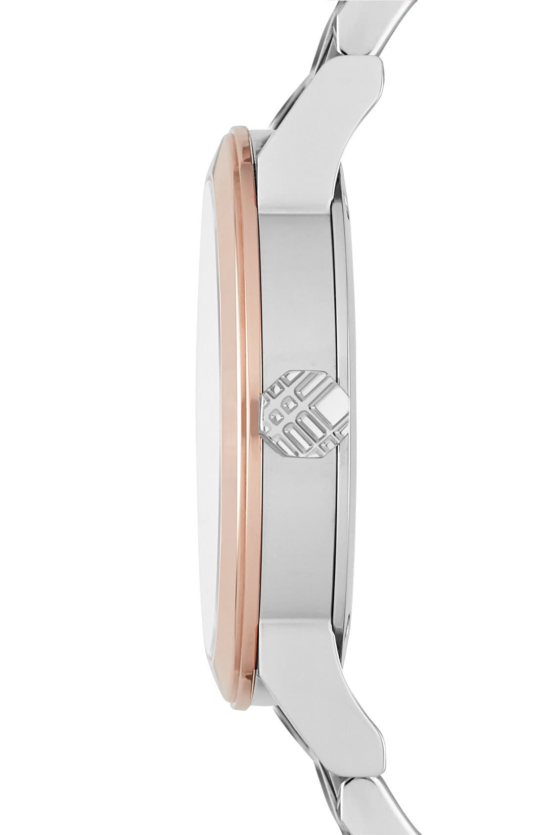 Alternate Image 4  - Burberry Diamond Dial Bracelet Watch, 34mm