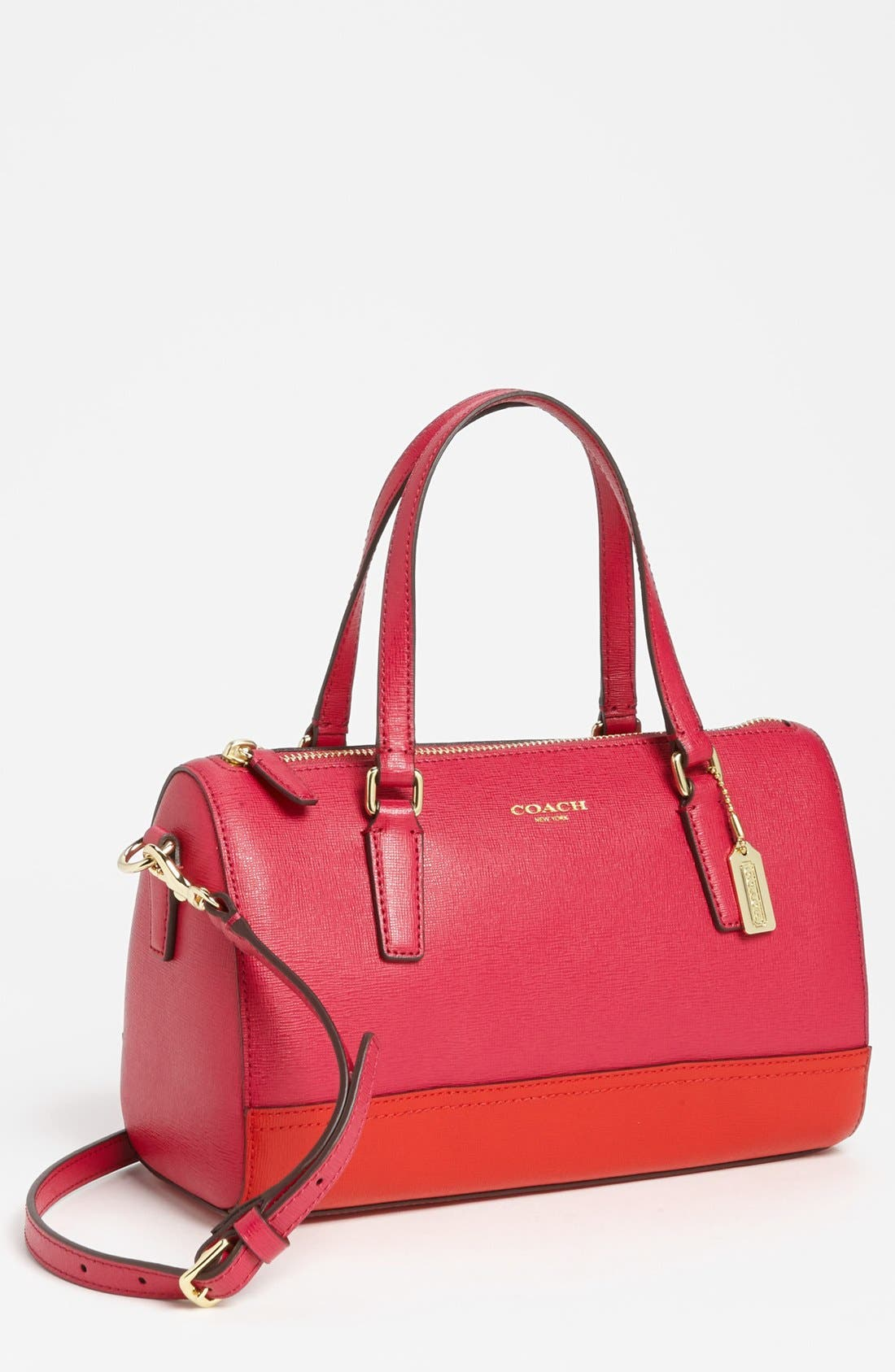 Alternate Image 1 Selected - COACH 'Mini' Saffiano Leather Satchel