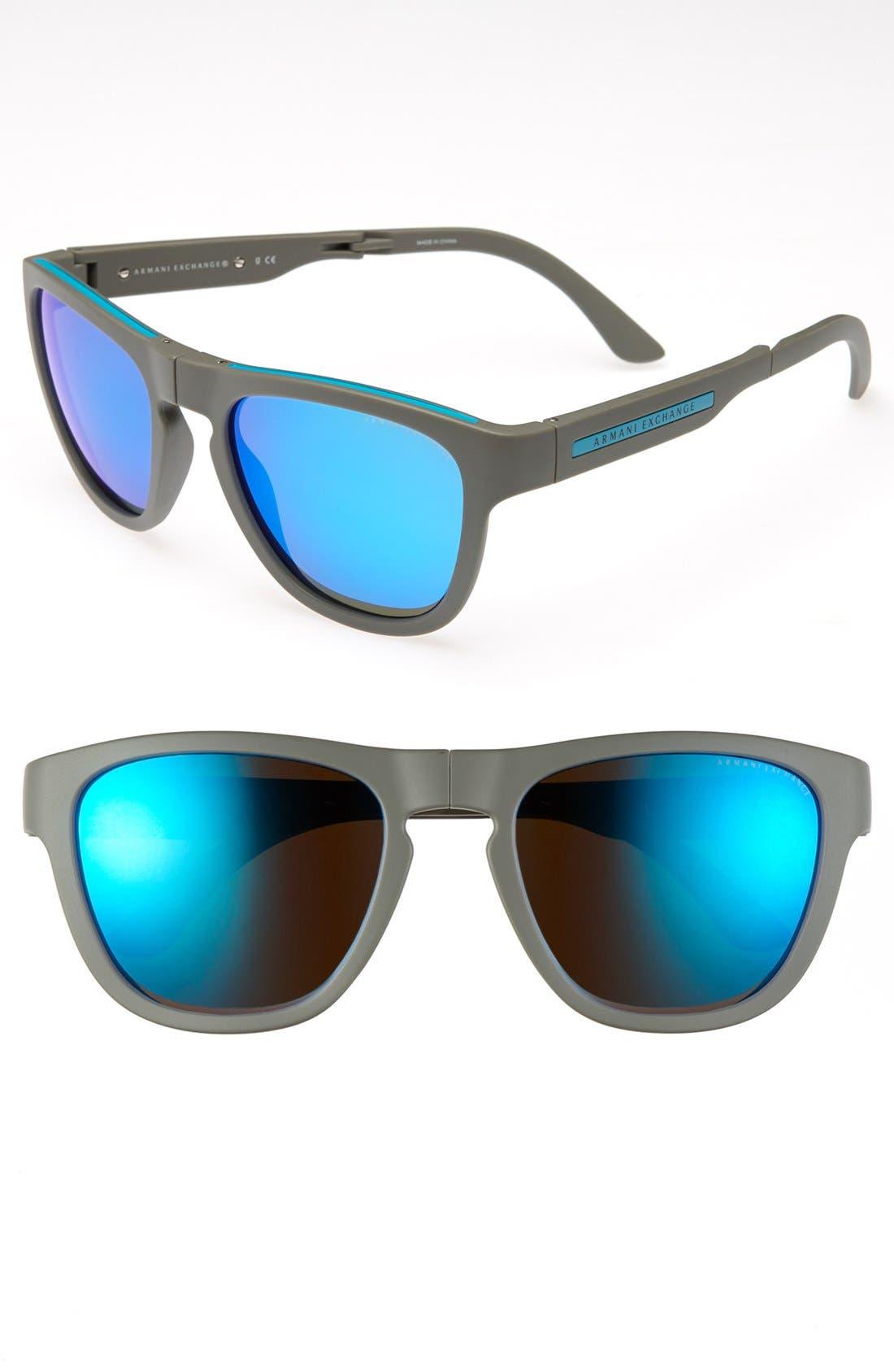 Main Image - AX Armani Exchange 54mm Foldable Sunglasses