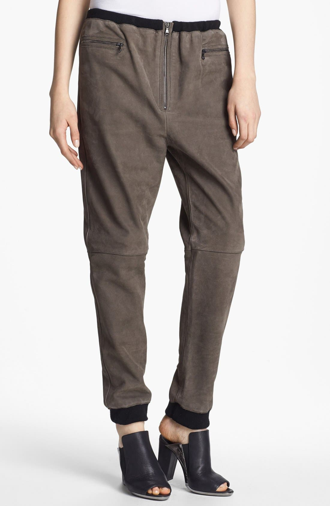 Alternate Image 1 Selected - 3.1 Phillip Lim Oversized Leather Track Pants