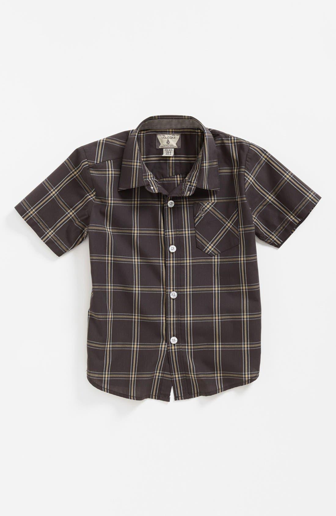Main Image - Volcom 'Why Factor' Short Sleeve Woven Shirt (Little Boys)