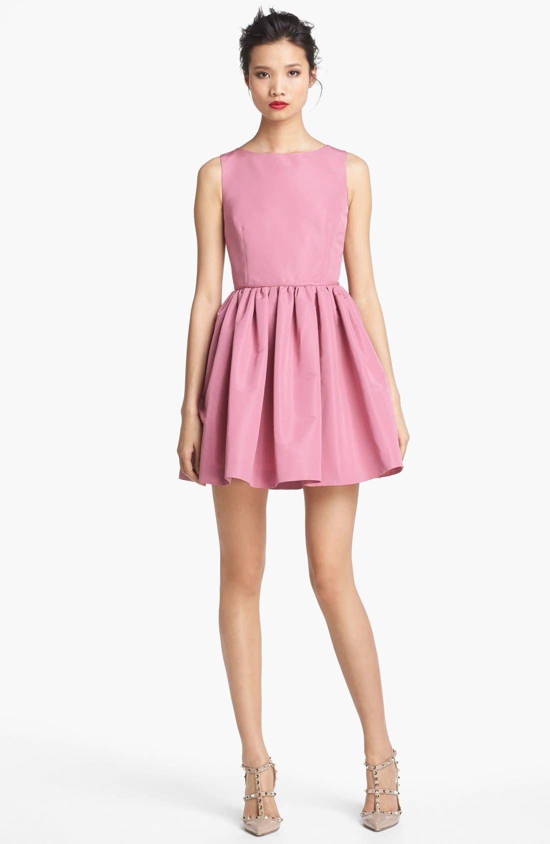 Full Skirt Faille Dress,                         Main,                         color, Rose