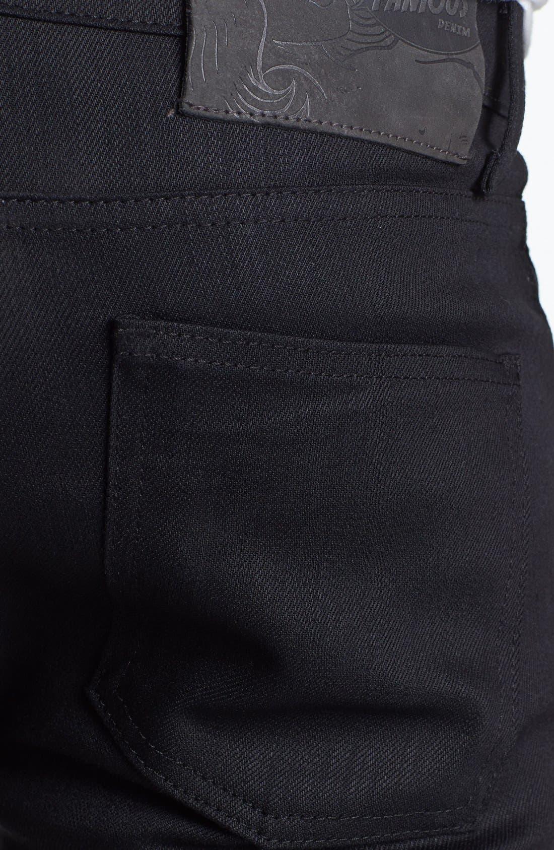 Alternate Image 4  - Naked & Famous Denim Skinny Guy Skinny Fit Jeans (Black Power Stretch)