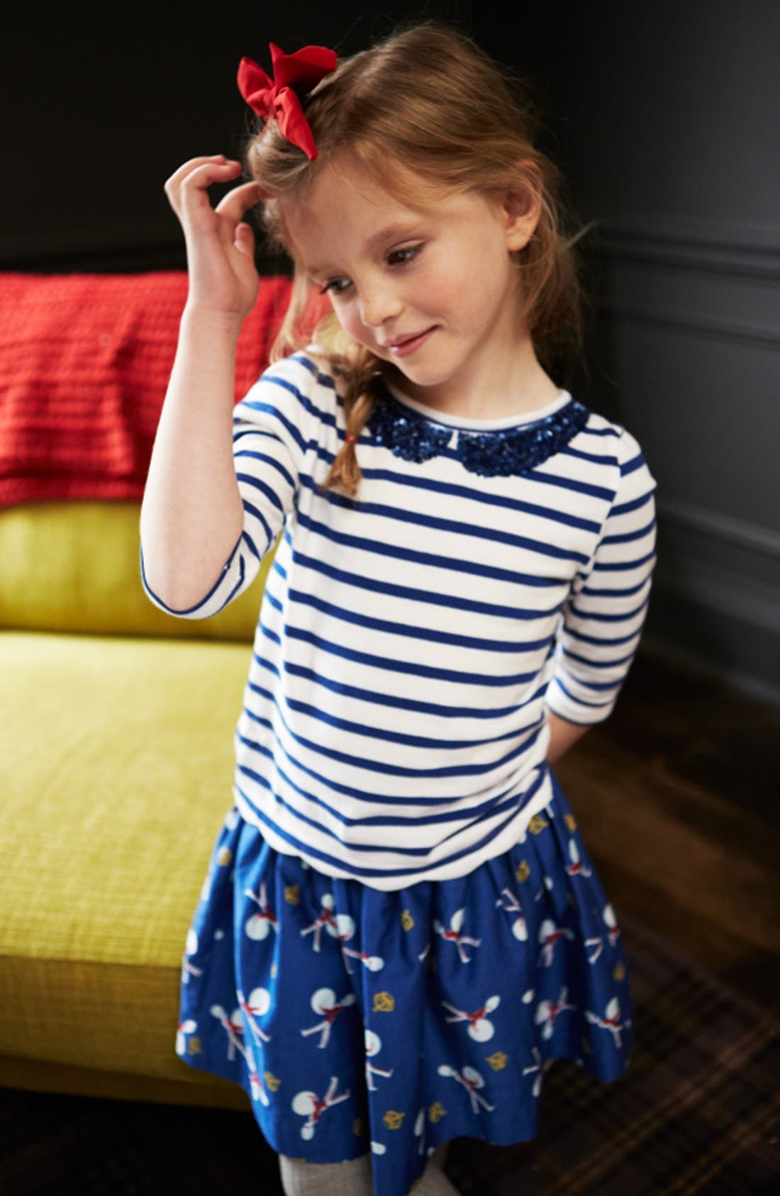 Alternate Image 2  - Mini Boden 'Sequin Collar' Tee (Little Girls & Big Girls)