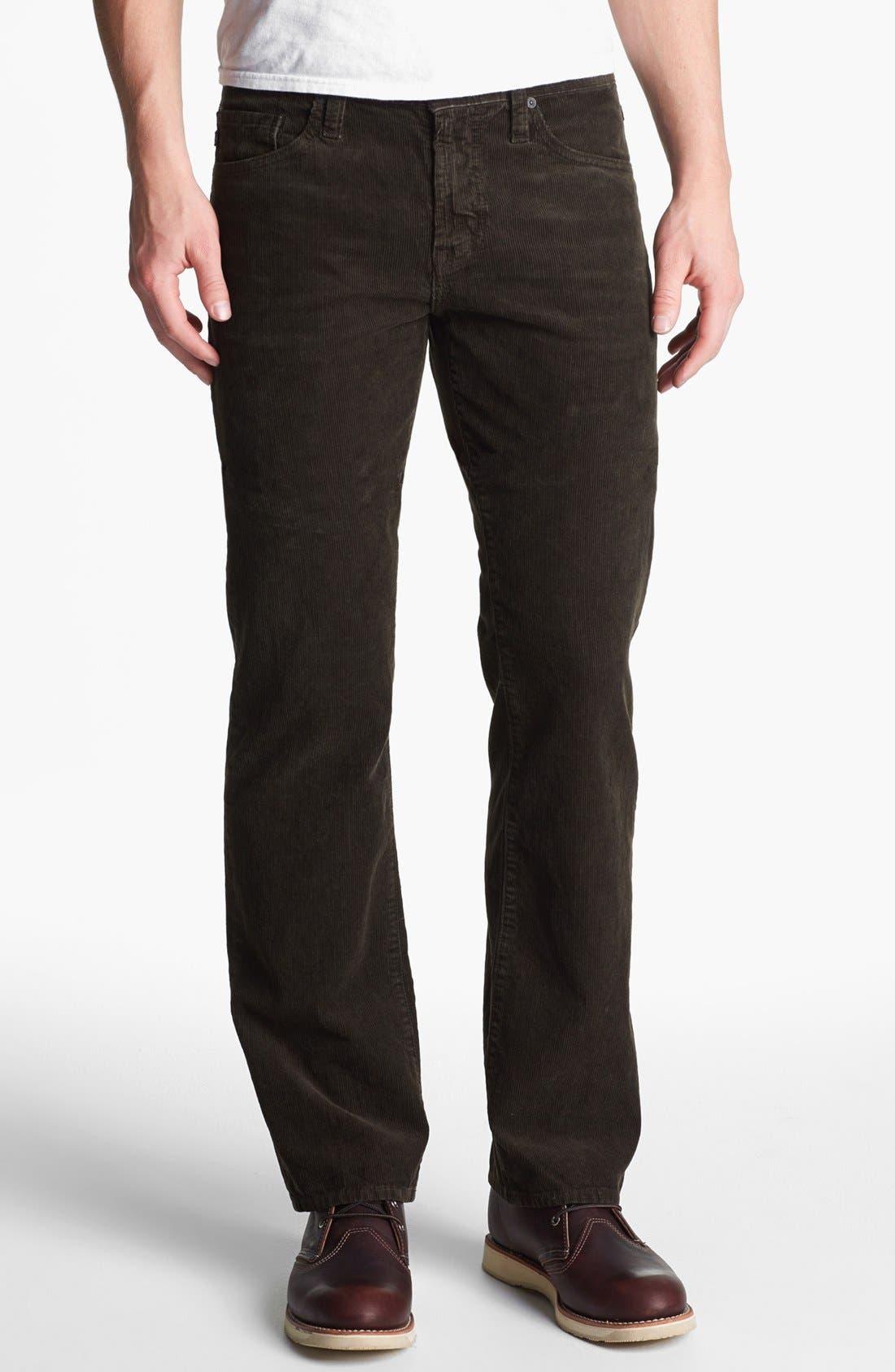 Alternate Image 1 Selected - AG 'Protégé' Straight Leg Corduroy Pants