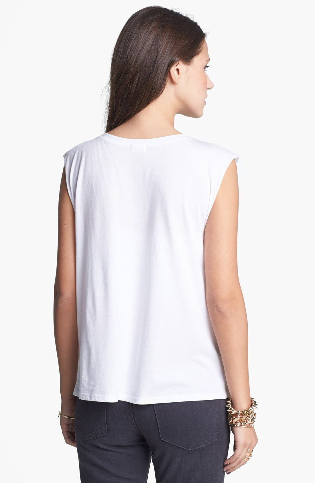 'Oh' Muscle Tank,                             Alternate thumbnail 2, color,                             White