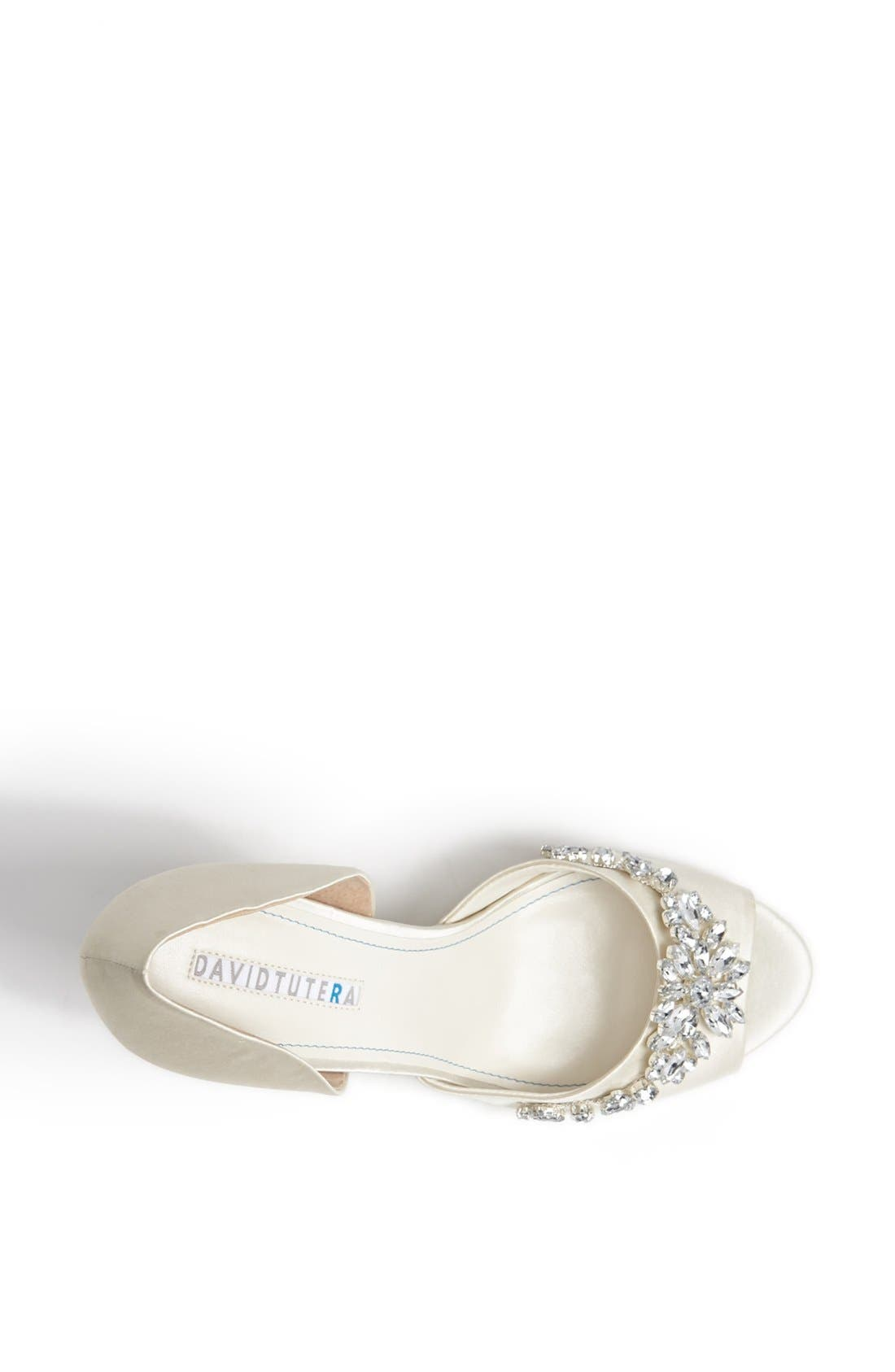 'Winter' Wedge Sandal,                             Alternate thumbnail 3, color,                             Ivory Satin