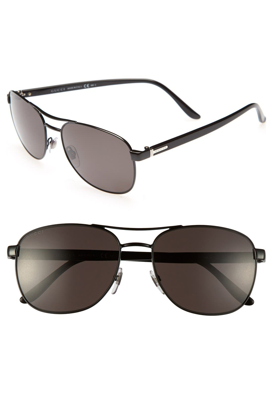 Main Image - Gucci 'Caravan' 57mm Polarized Sunglasses