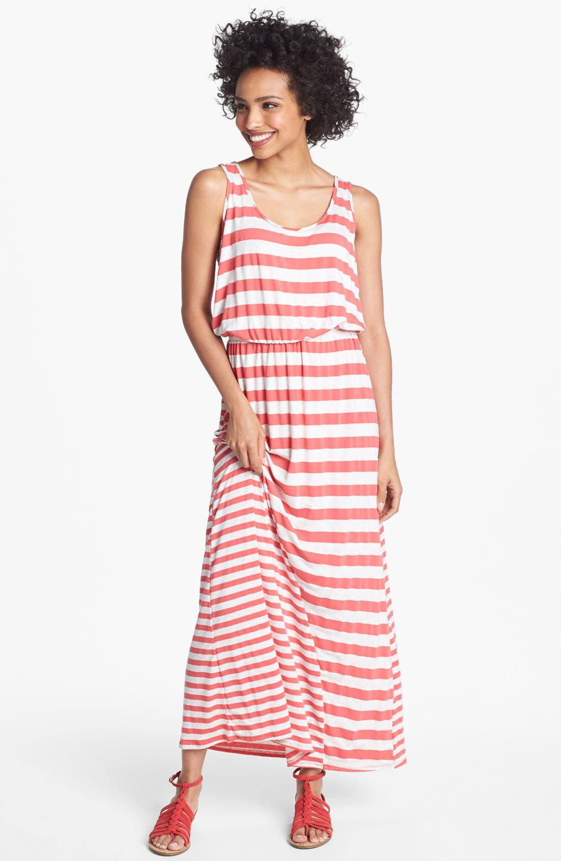 Main Image - Olivia Moon Multi Stripe Maxi Dress (Petite)