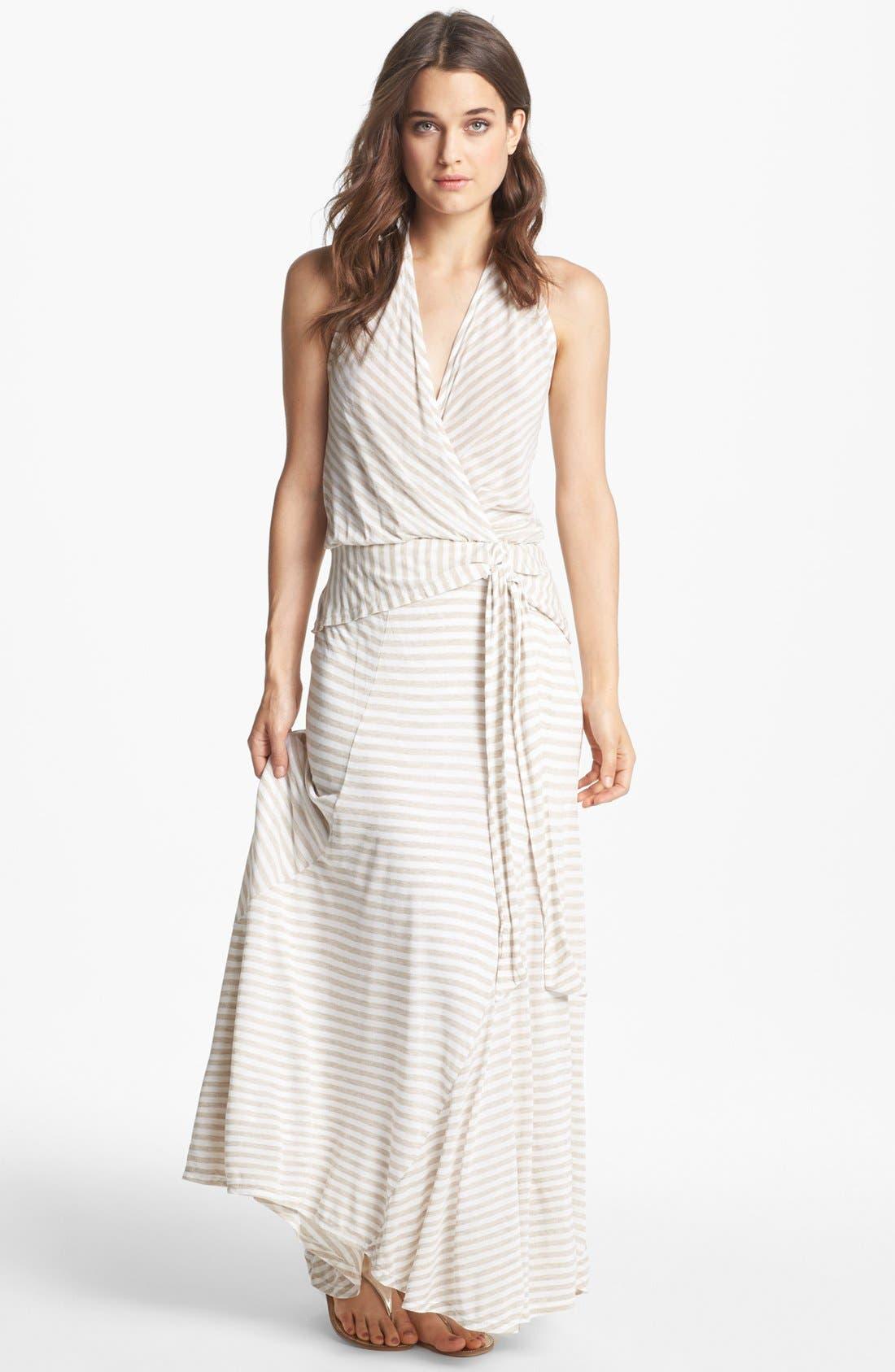 Alternate Image 1 Selected - Ella Moss Stripe High/Low Maxi Dress