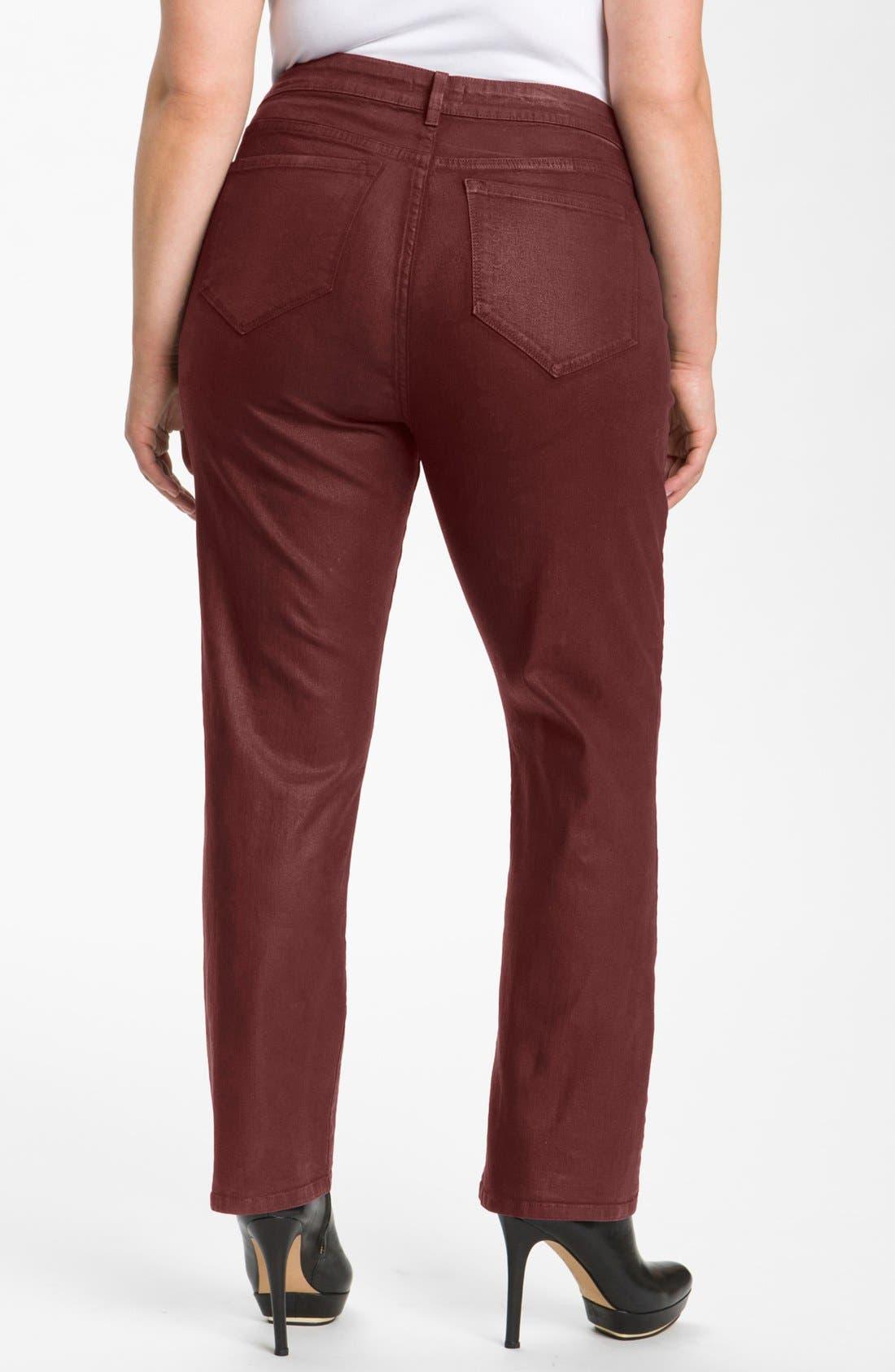 Alternate Image 2  - NYDJ 'Sheri' Coated Stretch Skinny Jeans (Plus)