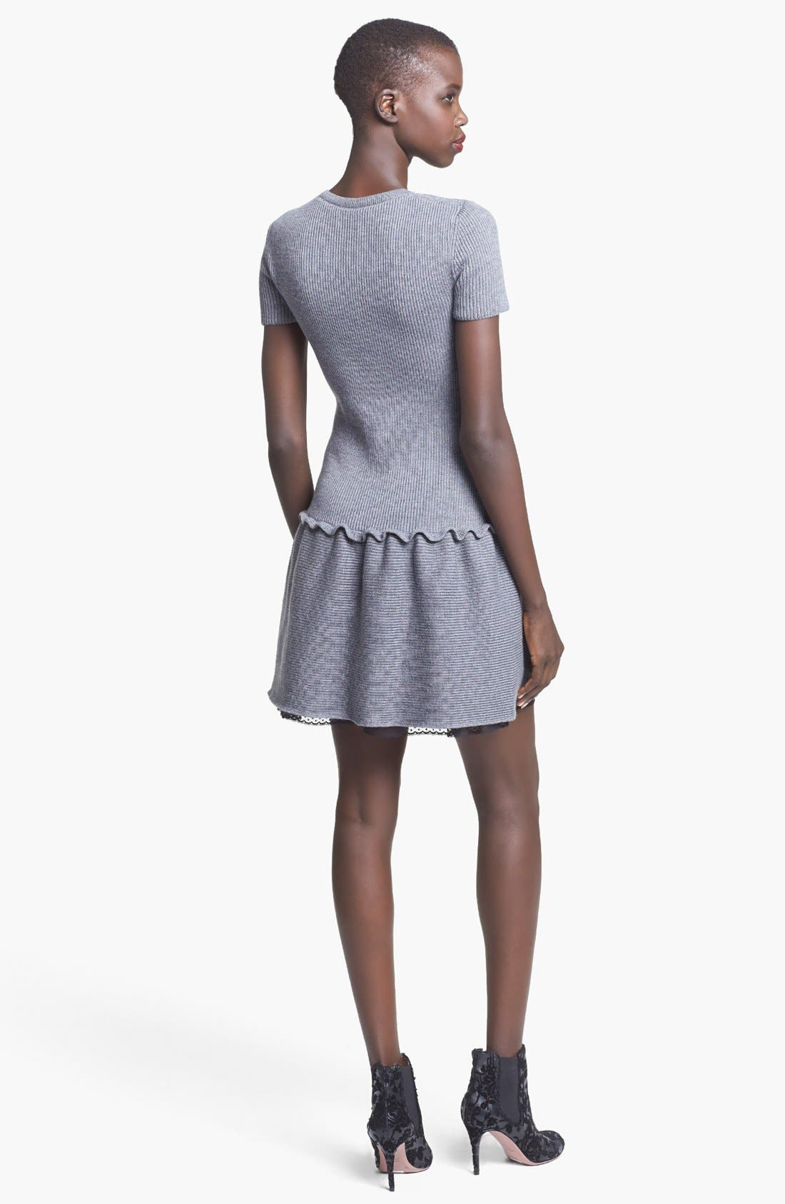 Alternate Image 2  - RED Valentino Bow Detail Knit Dress
