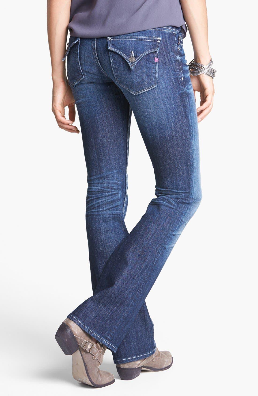 Main Image - Vigoss Flap Pocket Bootcut Jeans (Dark) (Juniors)