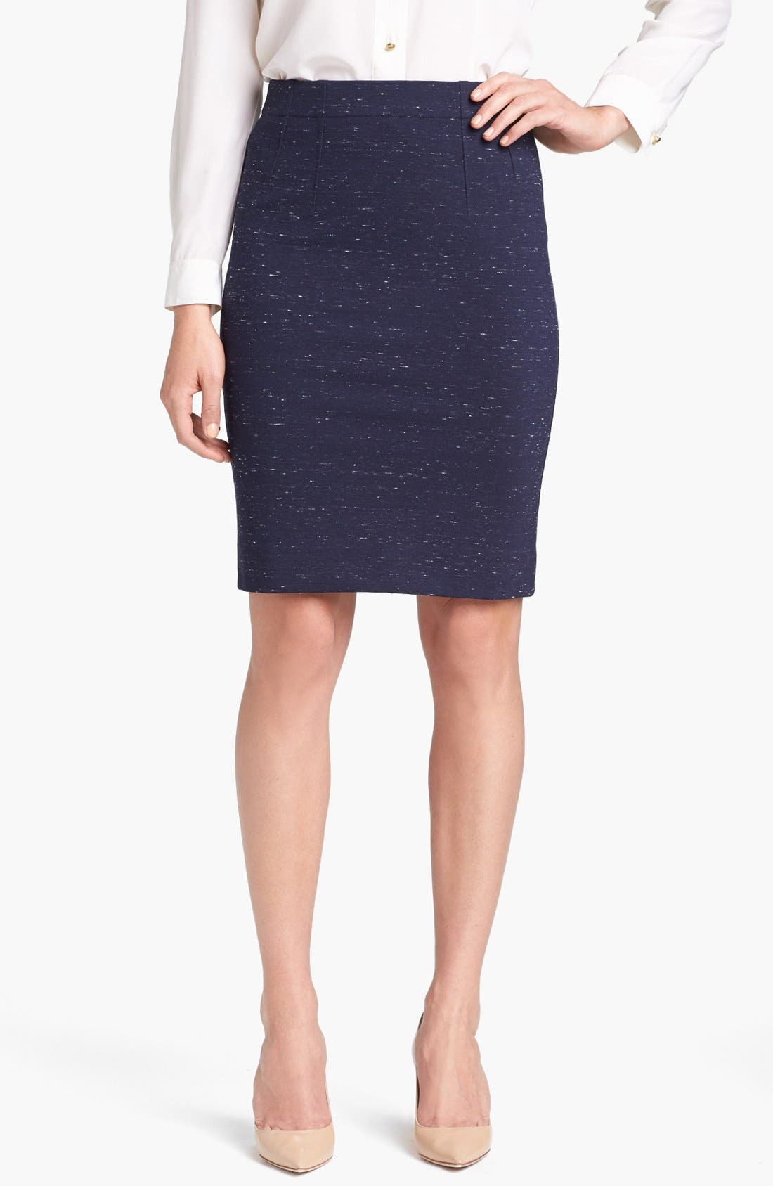 Main Image - MARC BY MARC JACOBS 'Alicia' Mélange Ponte Skirt