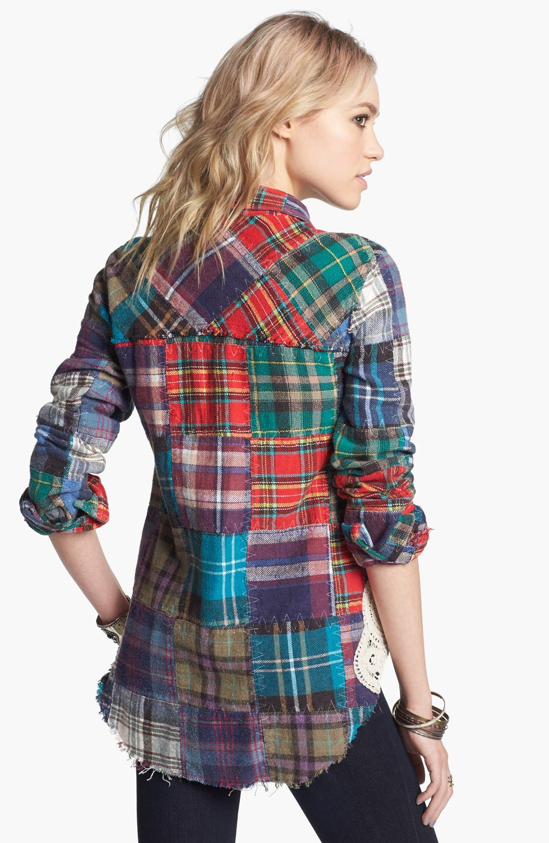 Alternate Image 2  - Free People 'Lost in Plaid' Patchwork Shirt