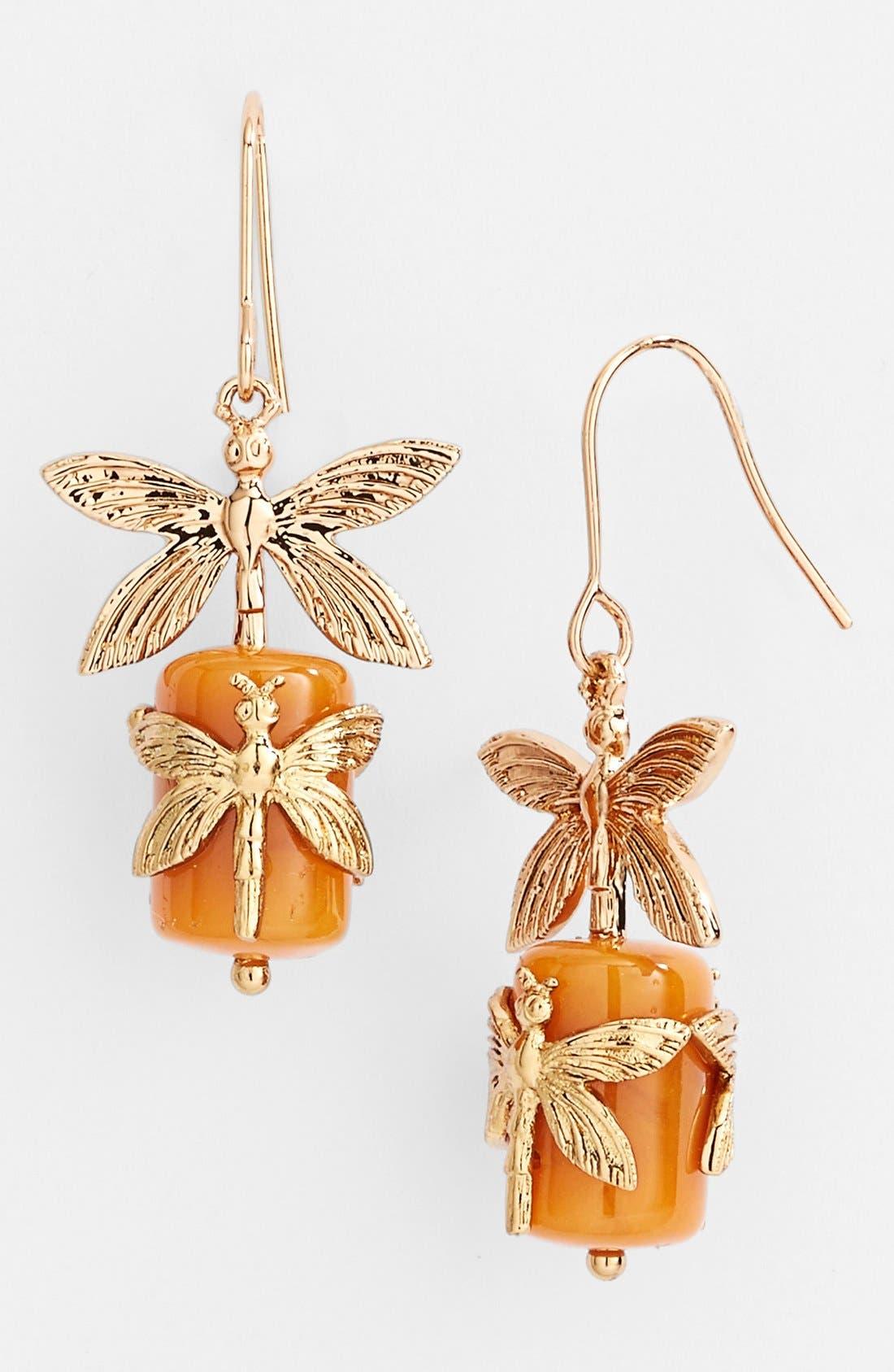 Alternate Image 1 Selected - Tory Burch Dragonfly Drop Earrings