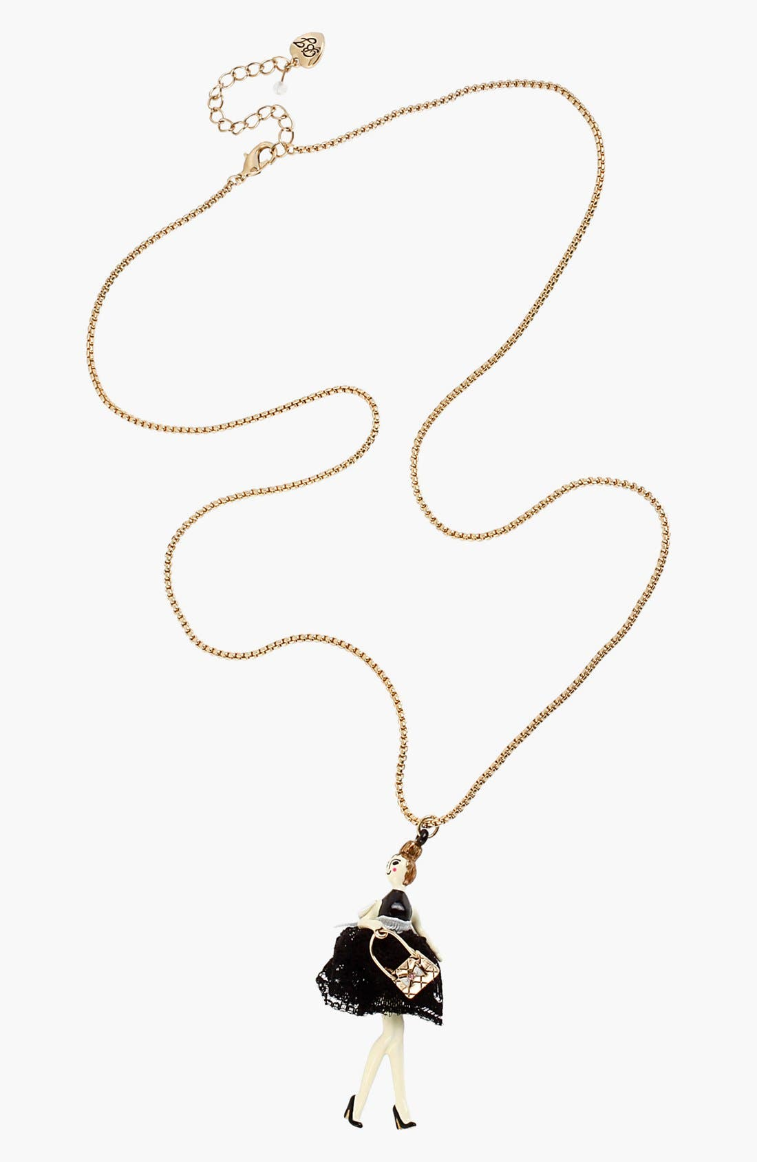Alternate Image 2  - Betsey Johnson 'Paris' Long Girl Pendant Necklace