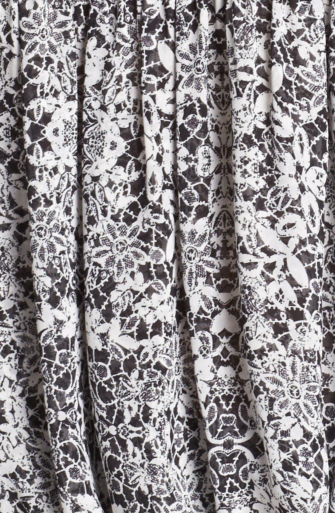 Alternate Image 3  - Vince Camuto Floral Print Peasant Blouse