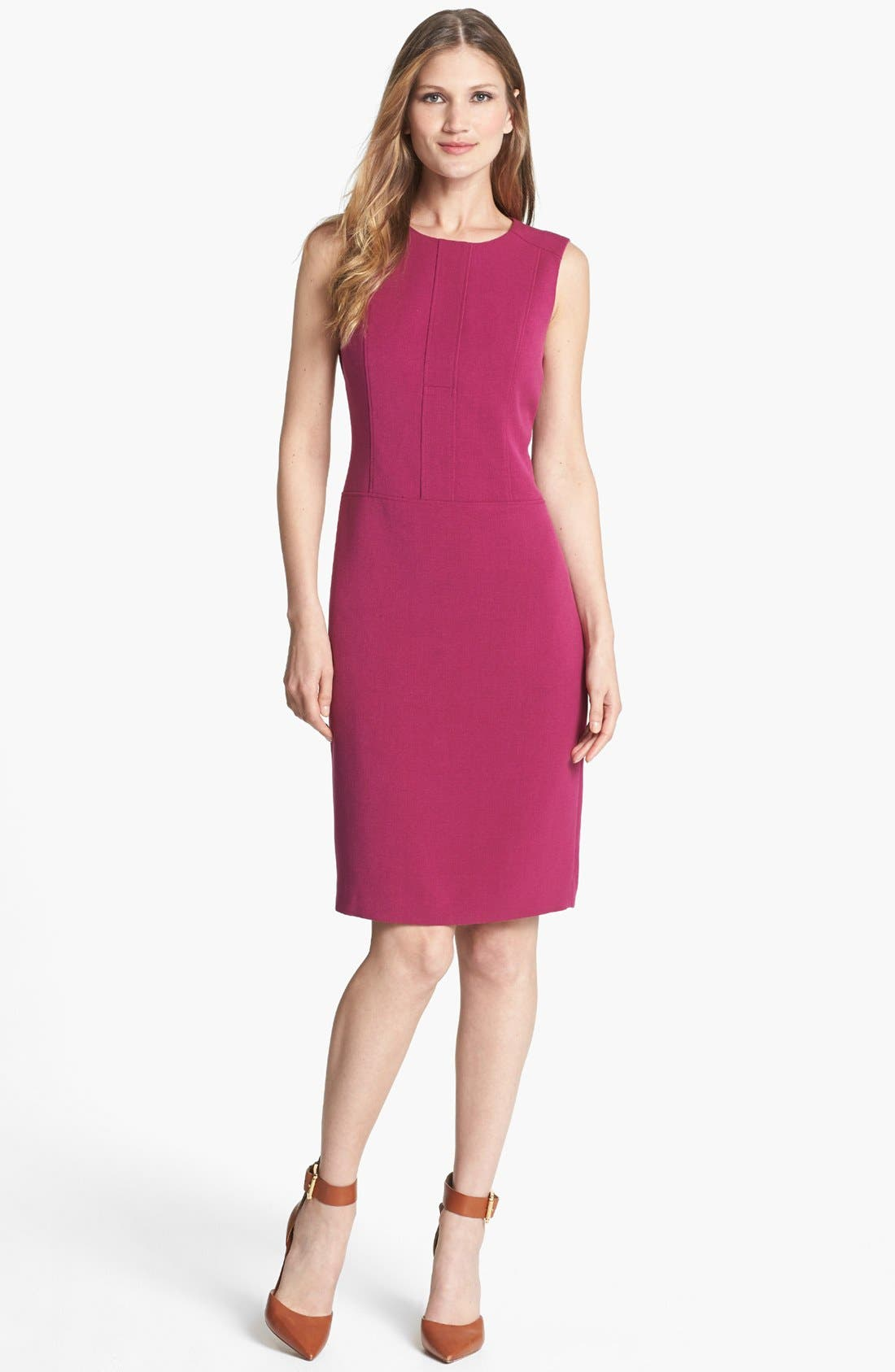 Alternate Image 1 Selected - Anne Klein Crewneck Sheath Dress
