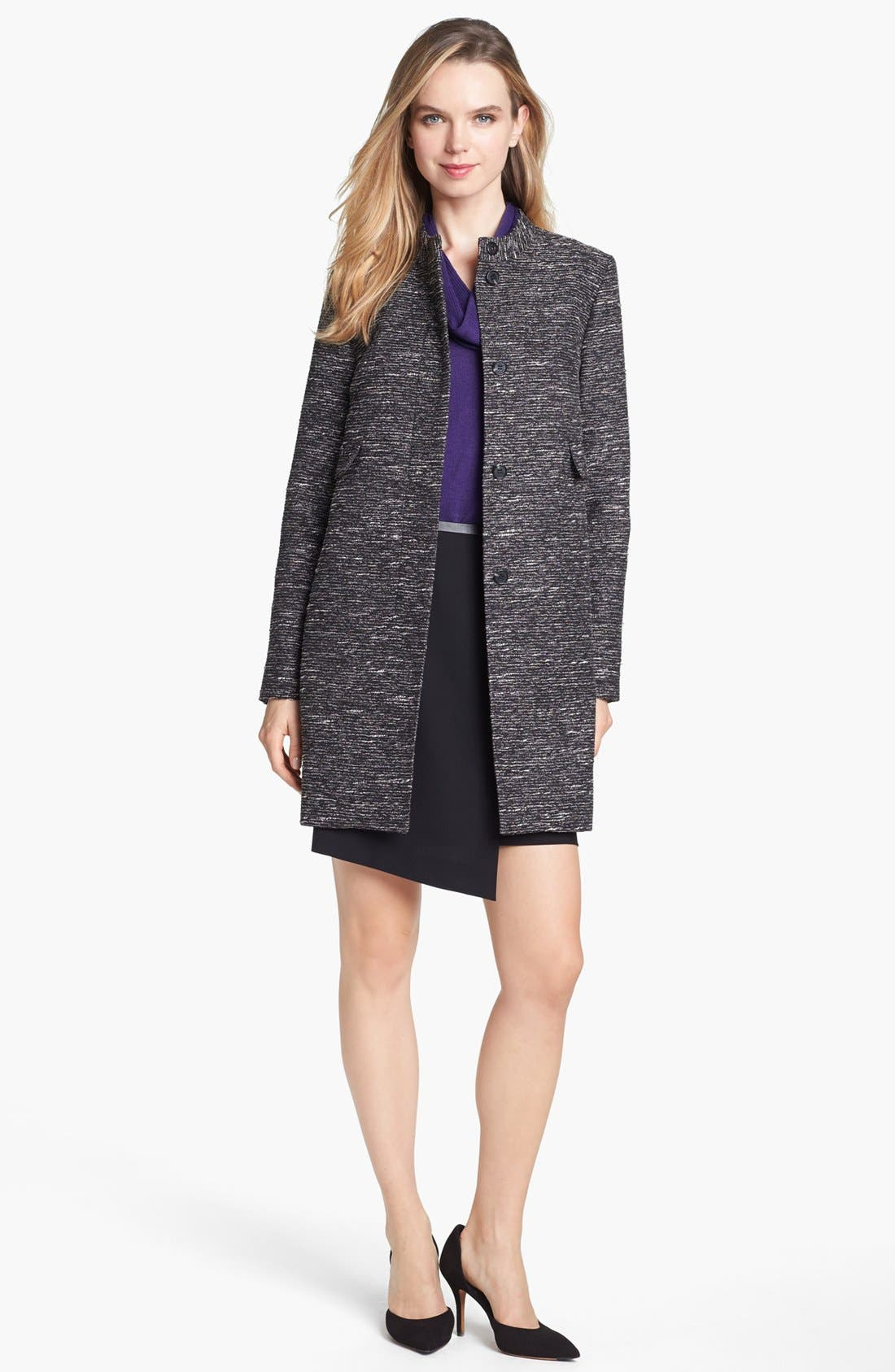 Alternate Image 1 Selected - Vince Camuto Metallic Tweed Topper