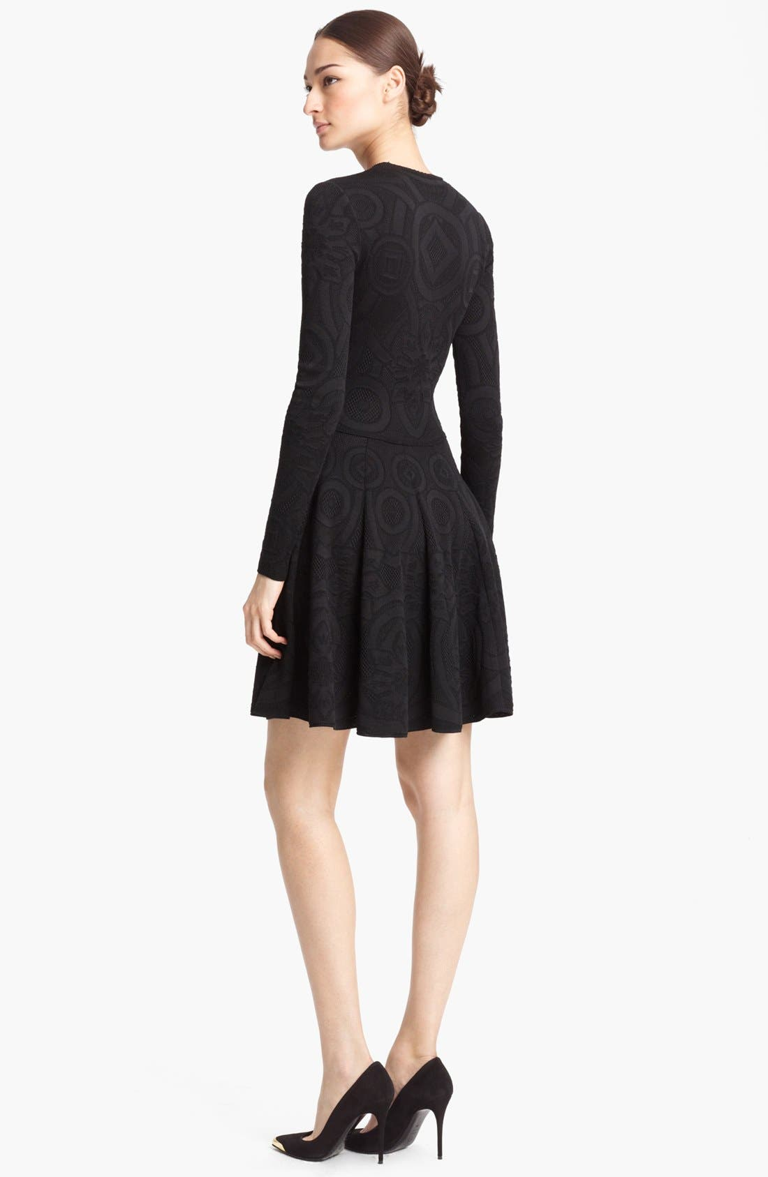Alternate Image 2  - Alexander McQueen Full Skirt Jacquard Knit Dress