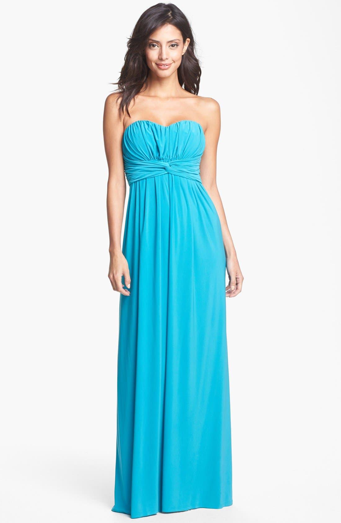 Main Image - Jessica Simpson Front Twist Jersey Maxi Dress