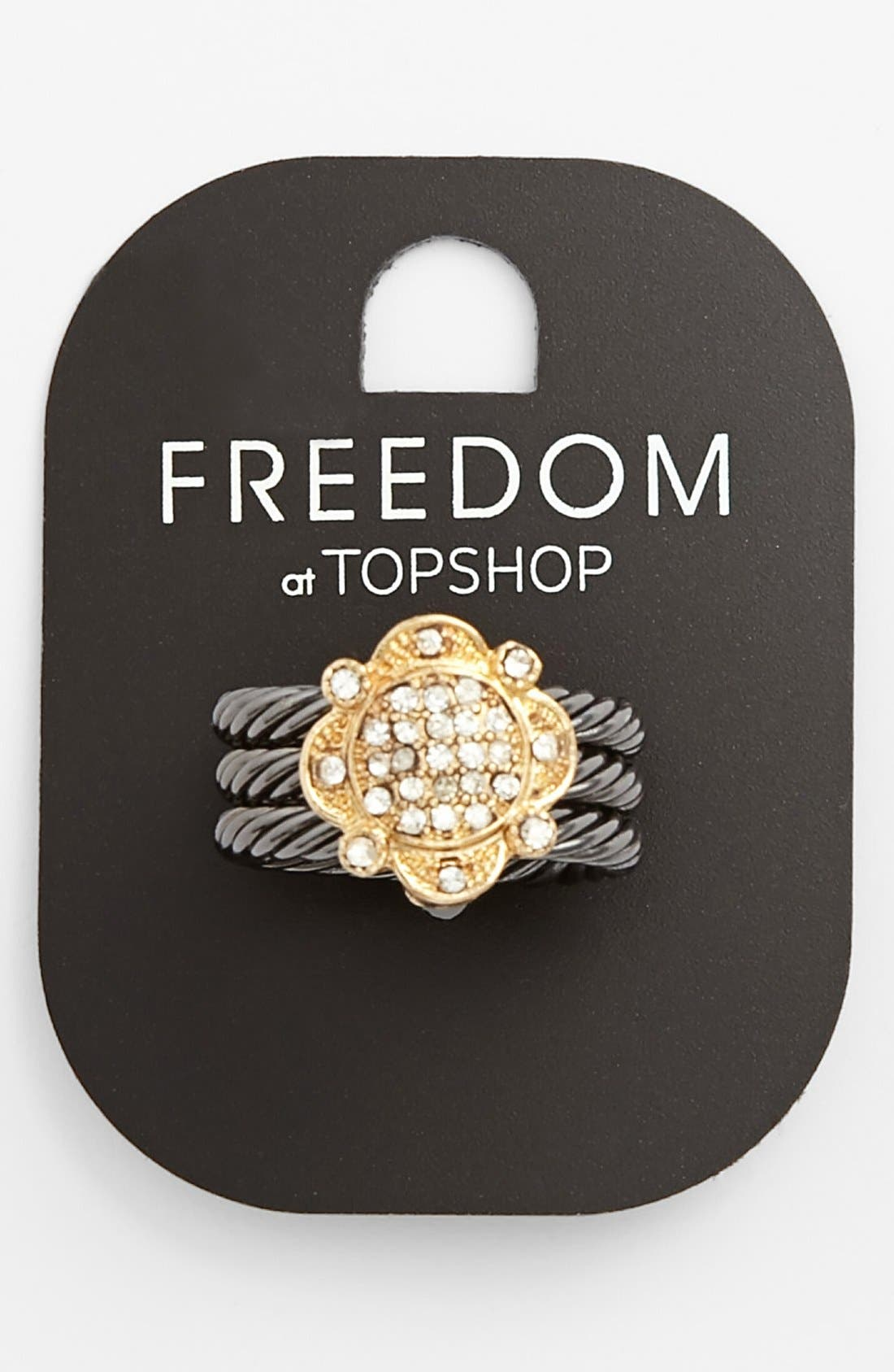 Main Image - Topshop Twist Band Ring