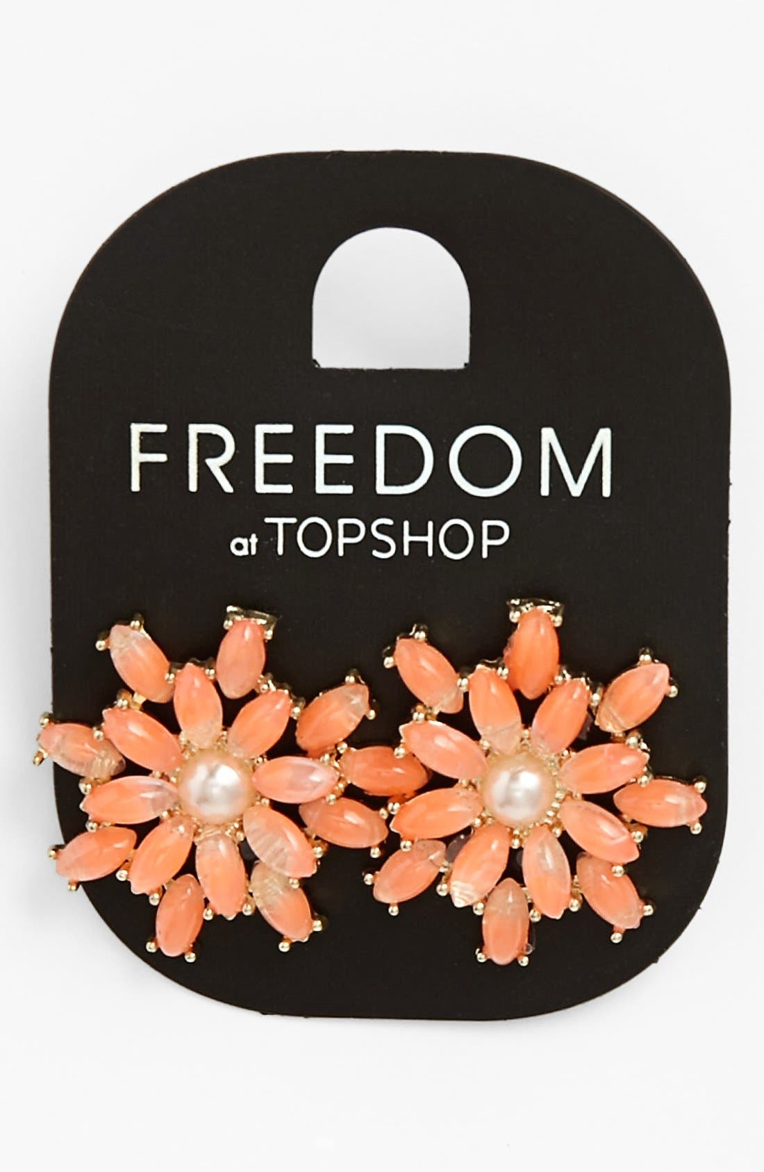 Main Image - Topshop Pastel Flower Earrings