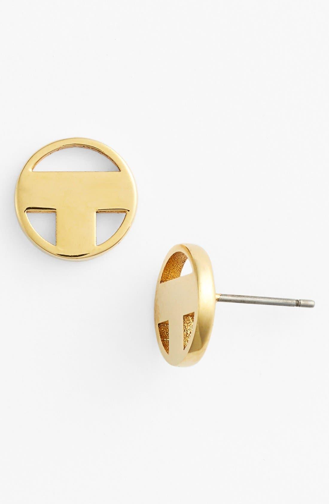 Main Image - Tory Burch Logo Stud Earrings